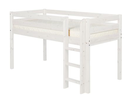 Flexa Single mid-height bed with ladder