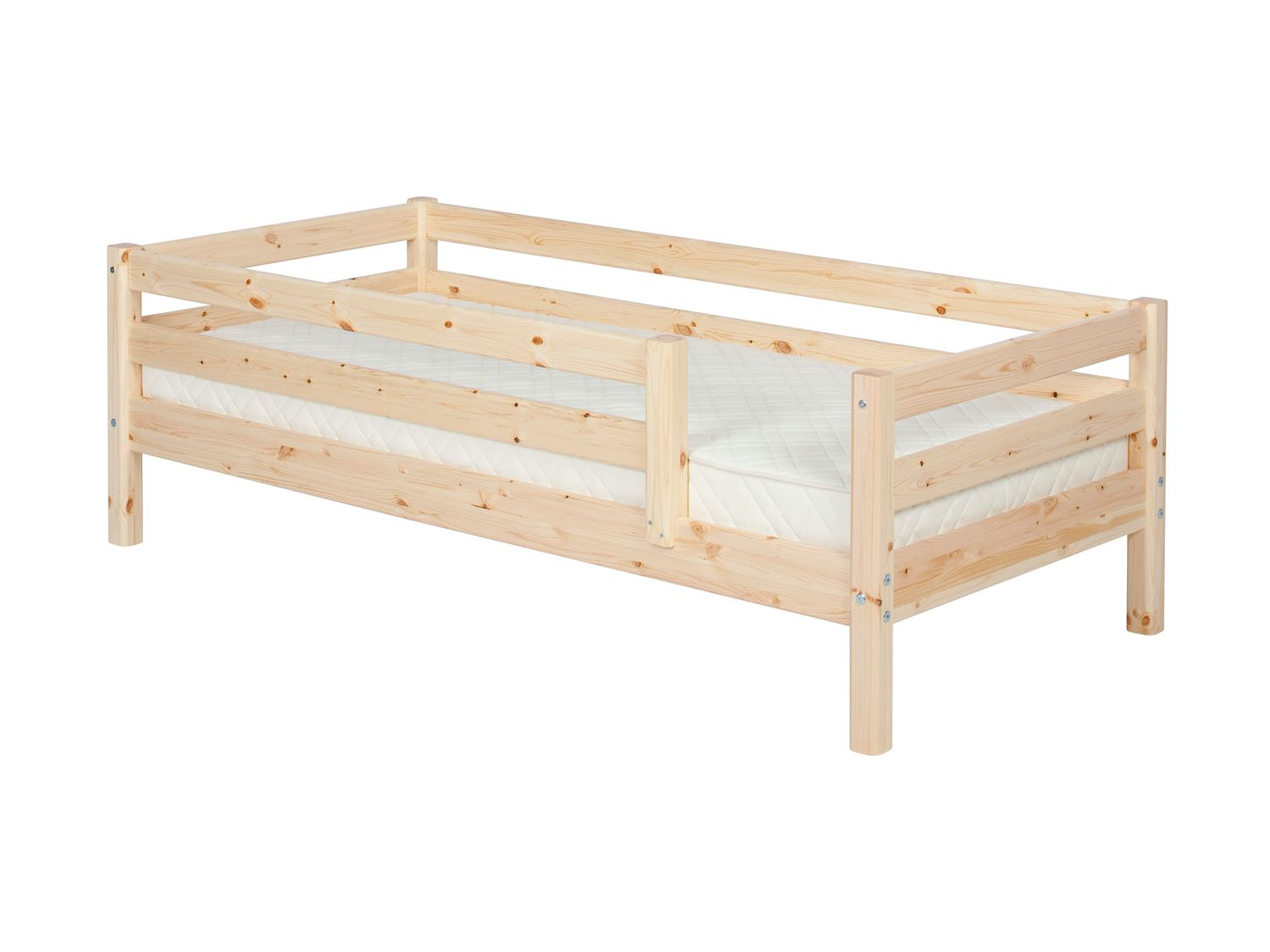 Single bed with full safety rails
