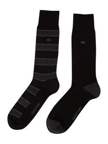 2 pack multi stripe sock