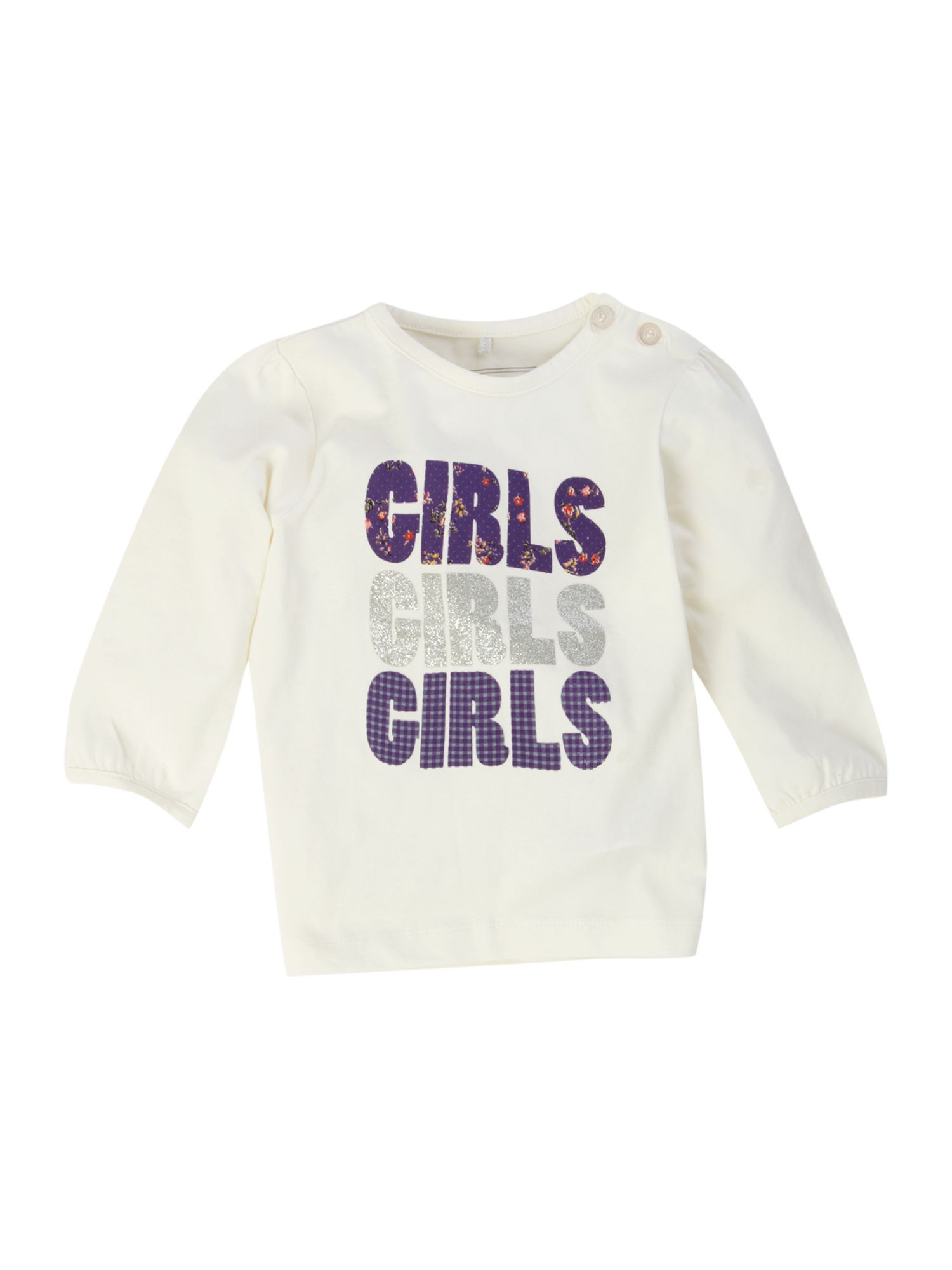name it Long-sleeved girls printed T-shirt, Off product image