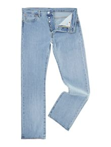 501 straight fit light wash jean