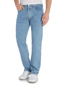 Levi's 501 Straight Fit Light Wash Jeans