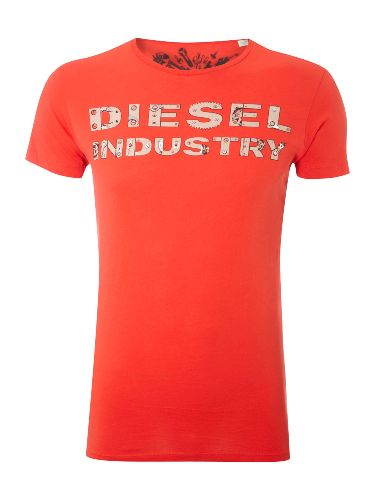 Diesel Mens Diesel Mens printed T-shirt, Red product image