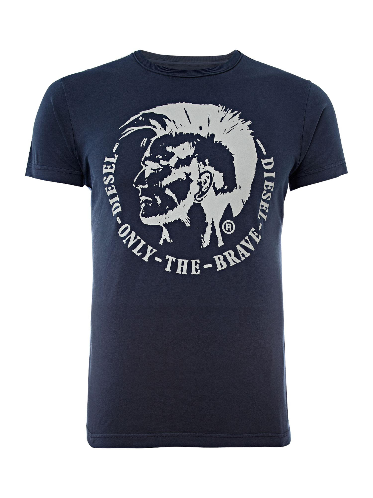 Diesel Mens Diesel Mens printed T-shirt, Navy product image