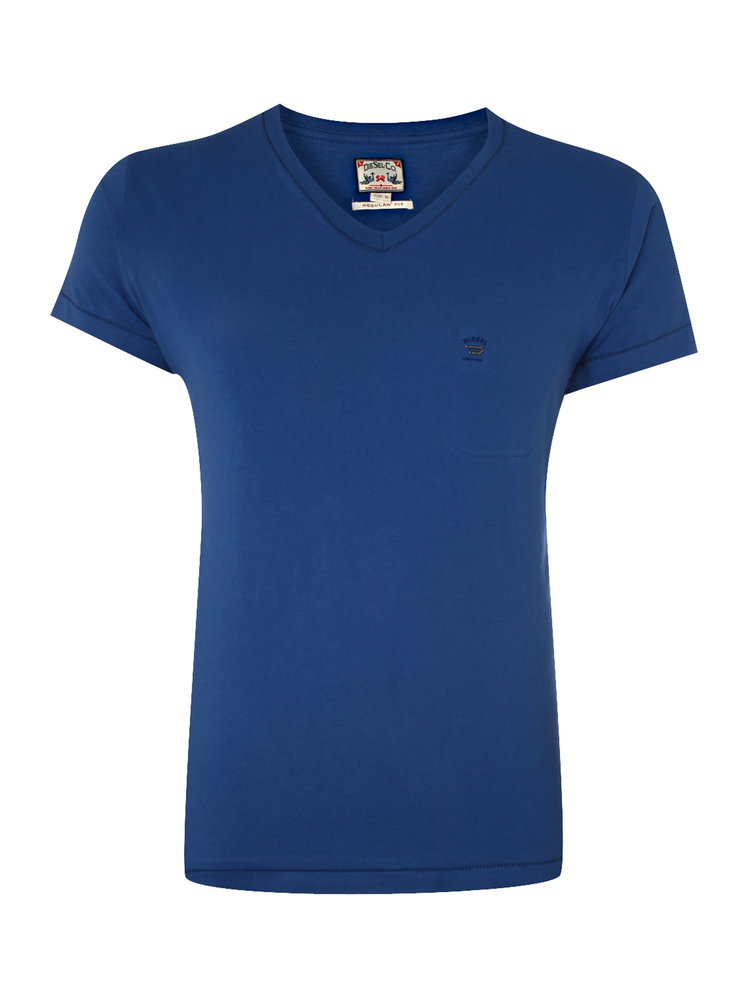 Diesel Mens Diesel Mens basic V-neck T-shirt, Blue product image
