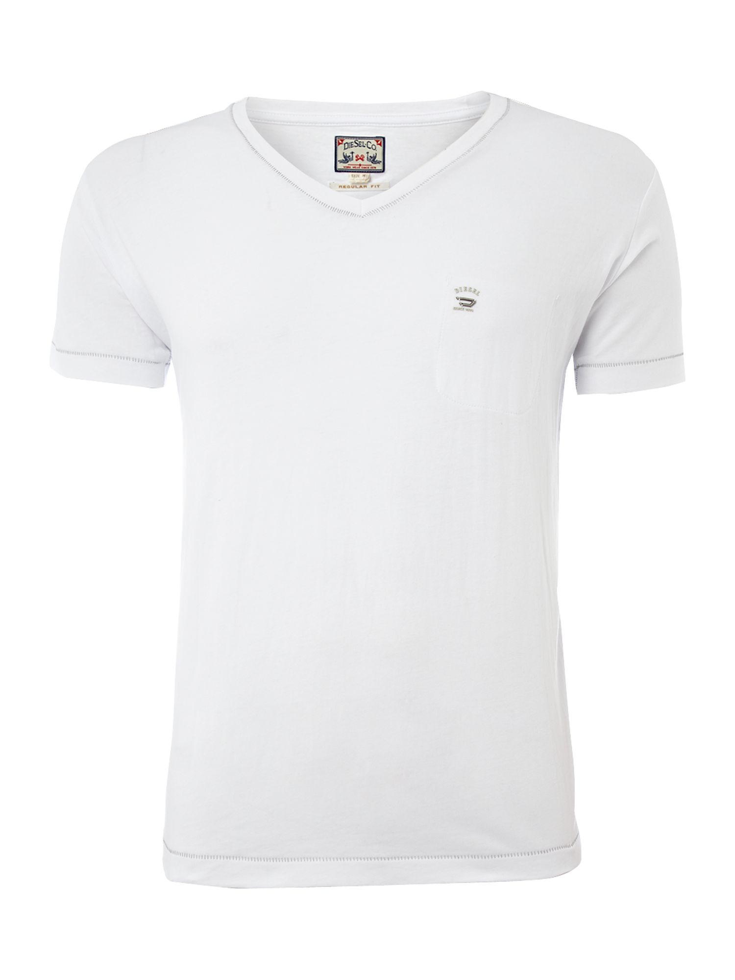 Diesel Mens Diesel Mens basic V-neck T-shirt, product image
