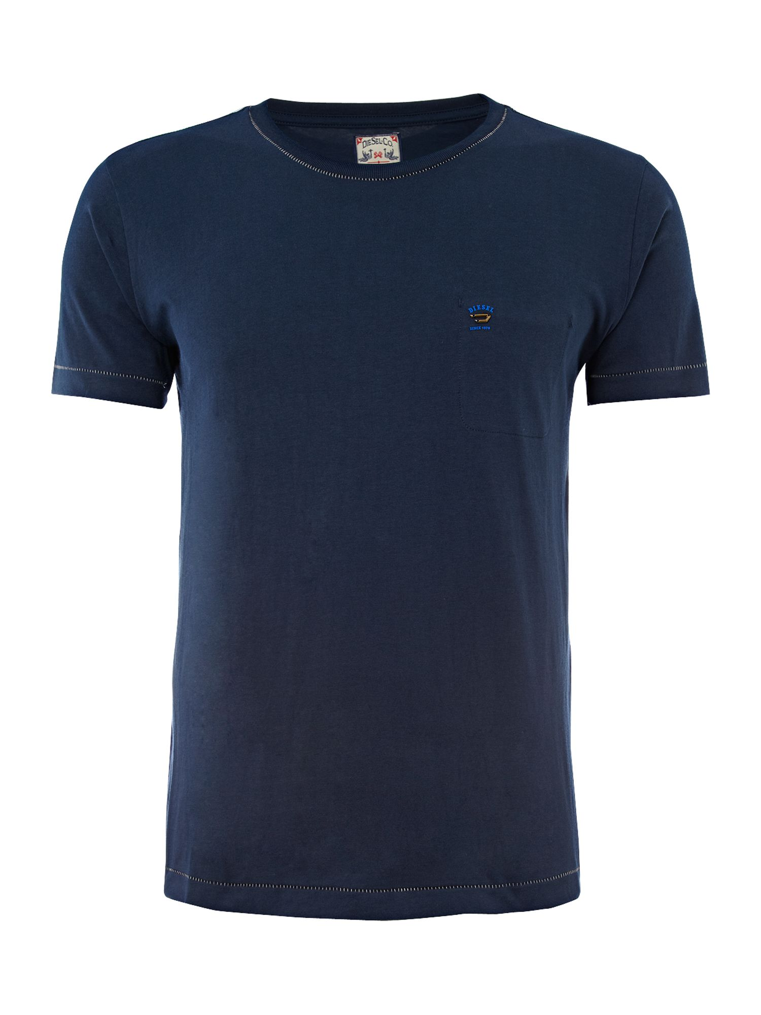 Diesel Mens Diesel Mens basic V-neck T-shirt, Navy product image