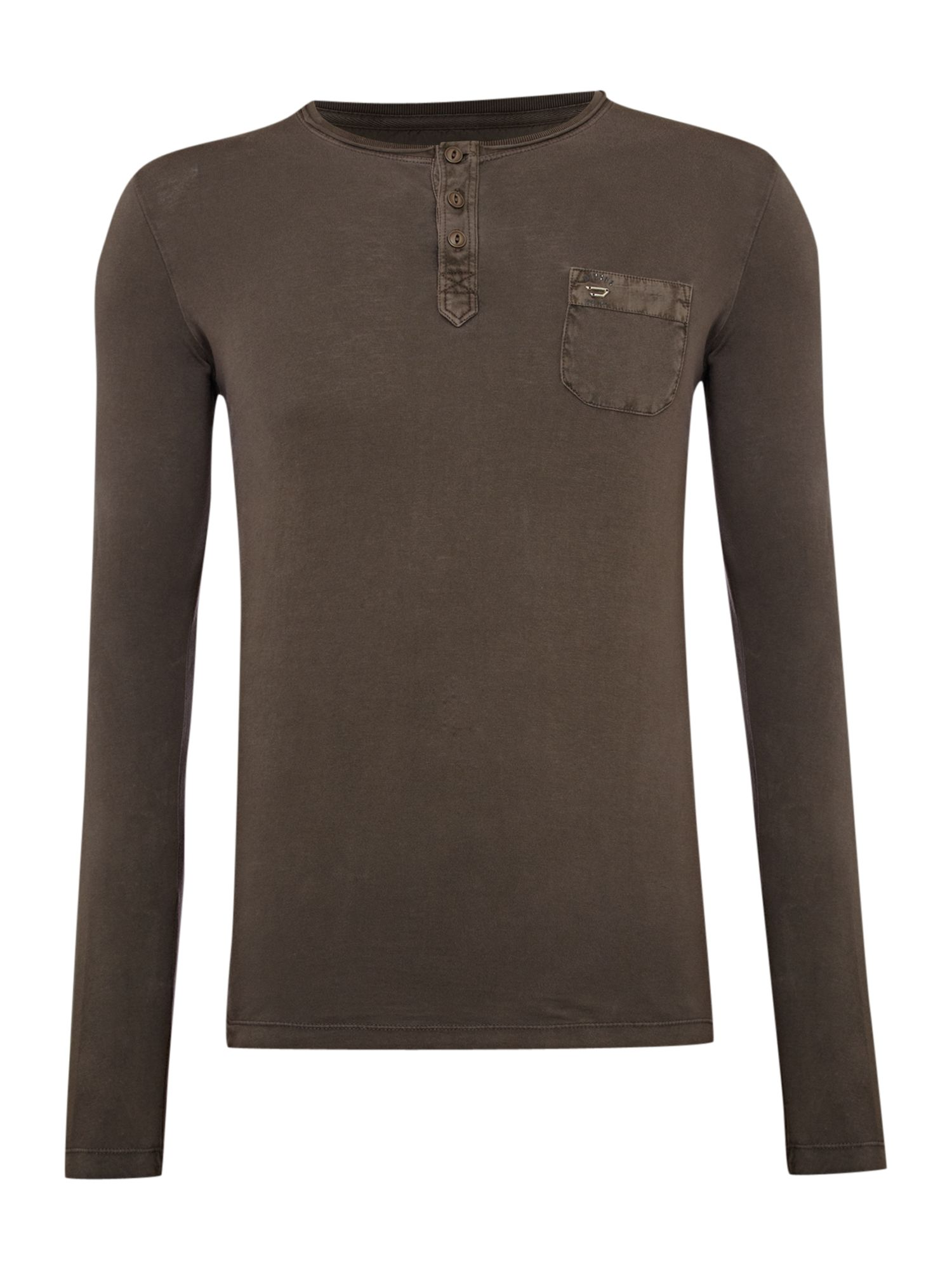 Diesel Mens Diesel Long-sleeve henley T-shirt, product image