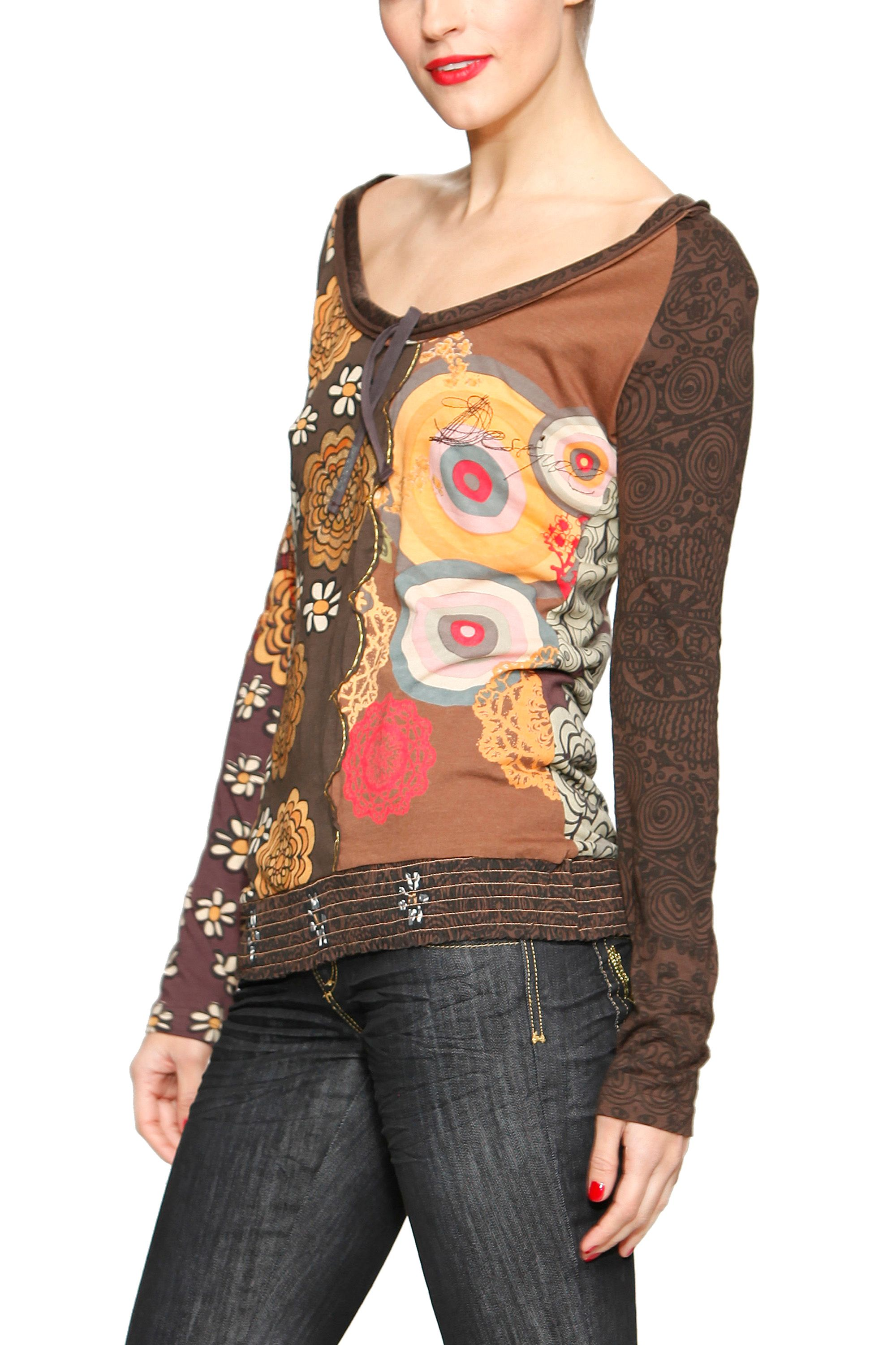 Desigual Womens Desigual T-shirt niebla, Brown product image