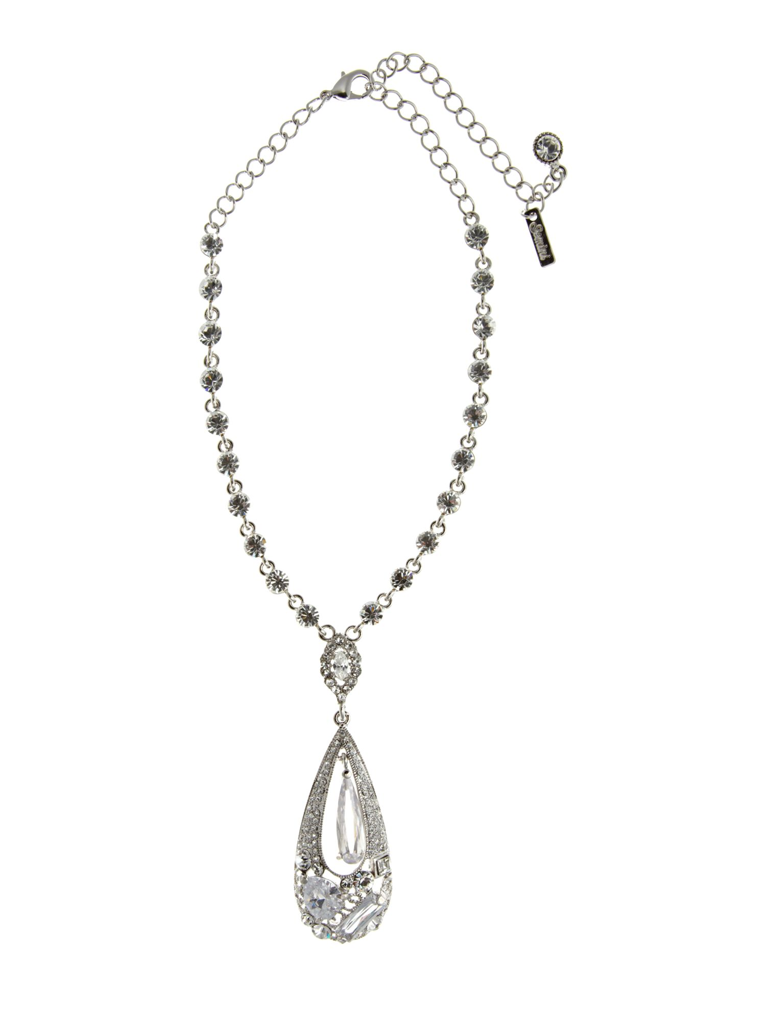 Gemini Crystal drop haute couture swarovski necklace