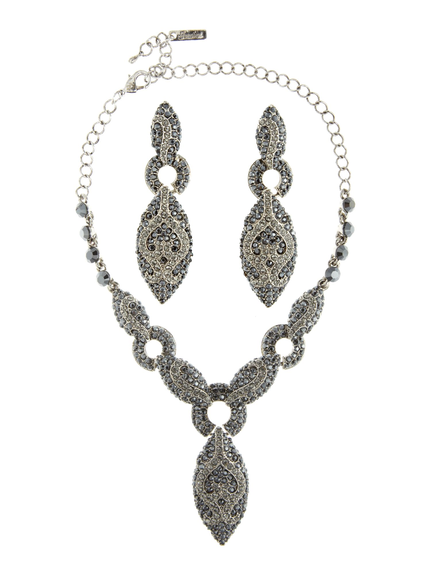 Gemini Hautecouture necklace set with swarovski crystals
