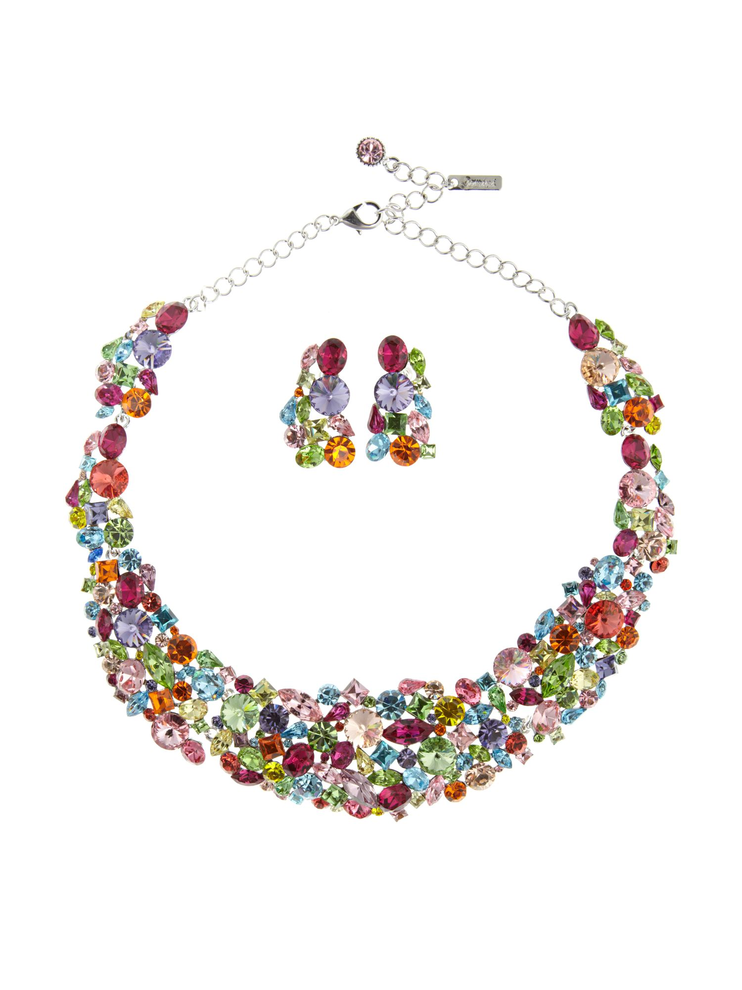 Gemini Multi haute couture with swarovski necklace
