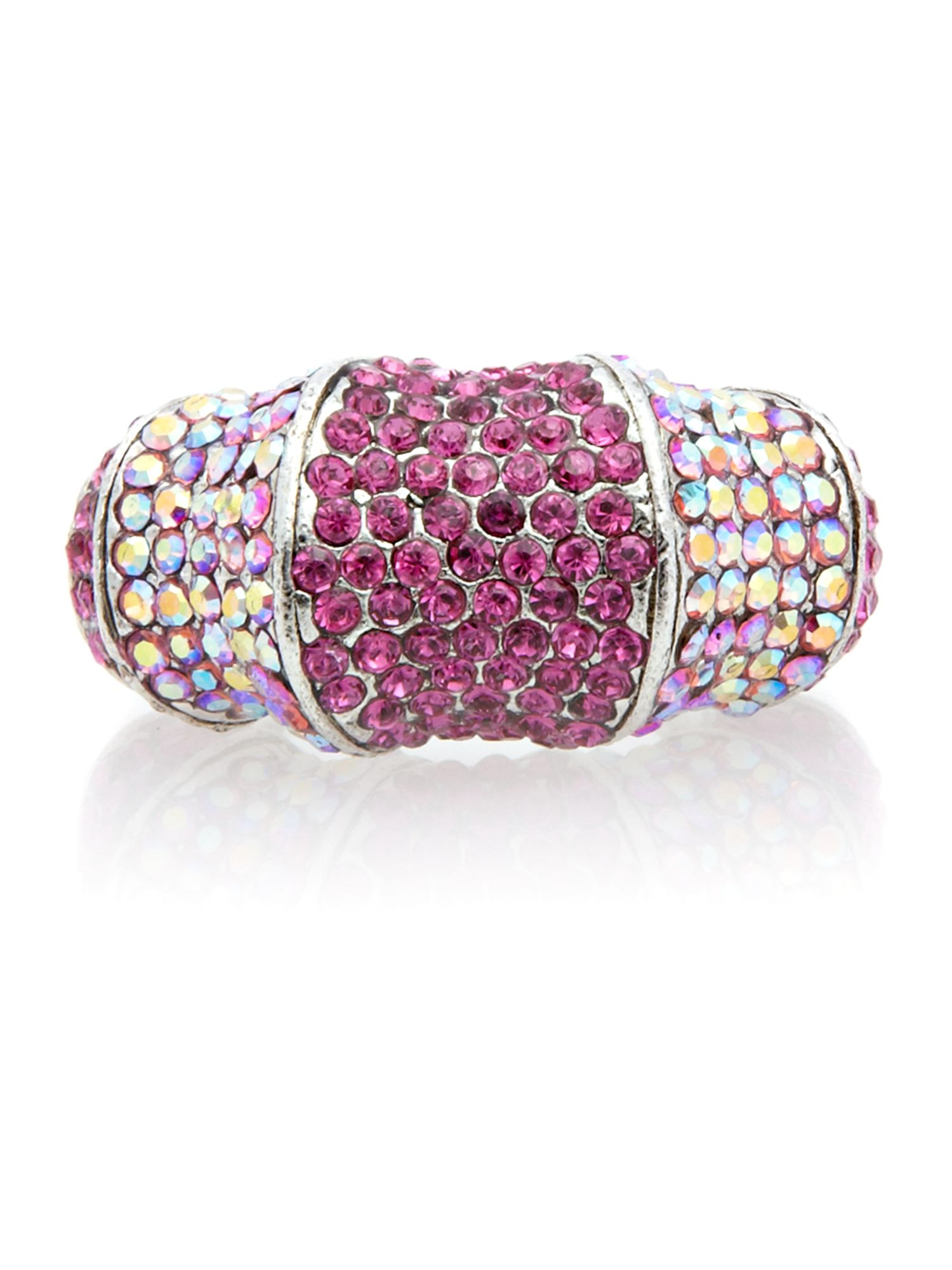 Gemini Fuchsia ring with swarovski crystals
