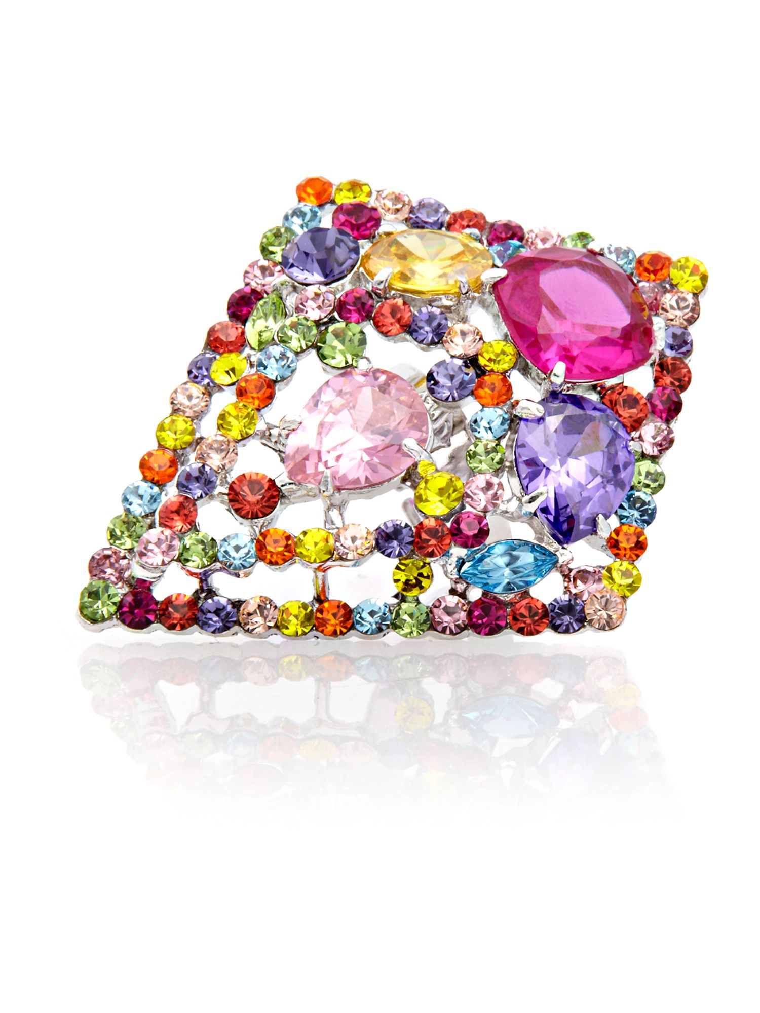 Gemini Multi diamond haute couture swarovski ring