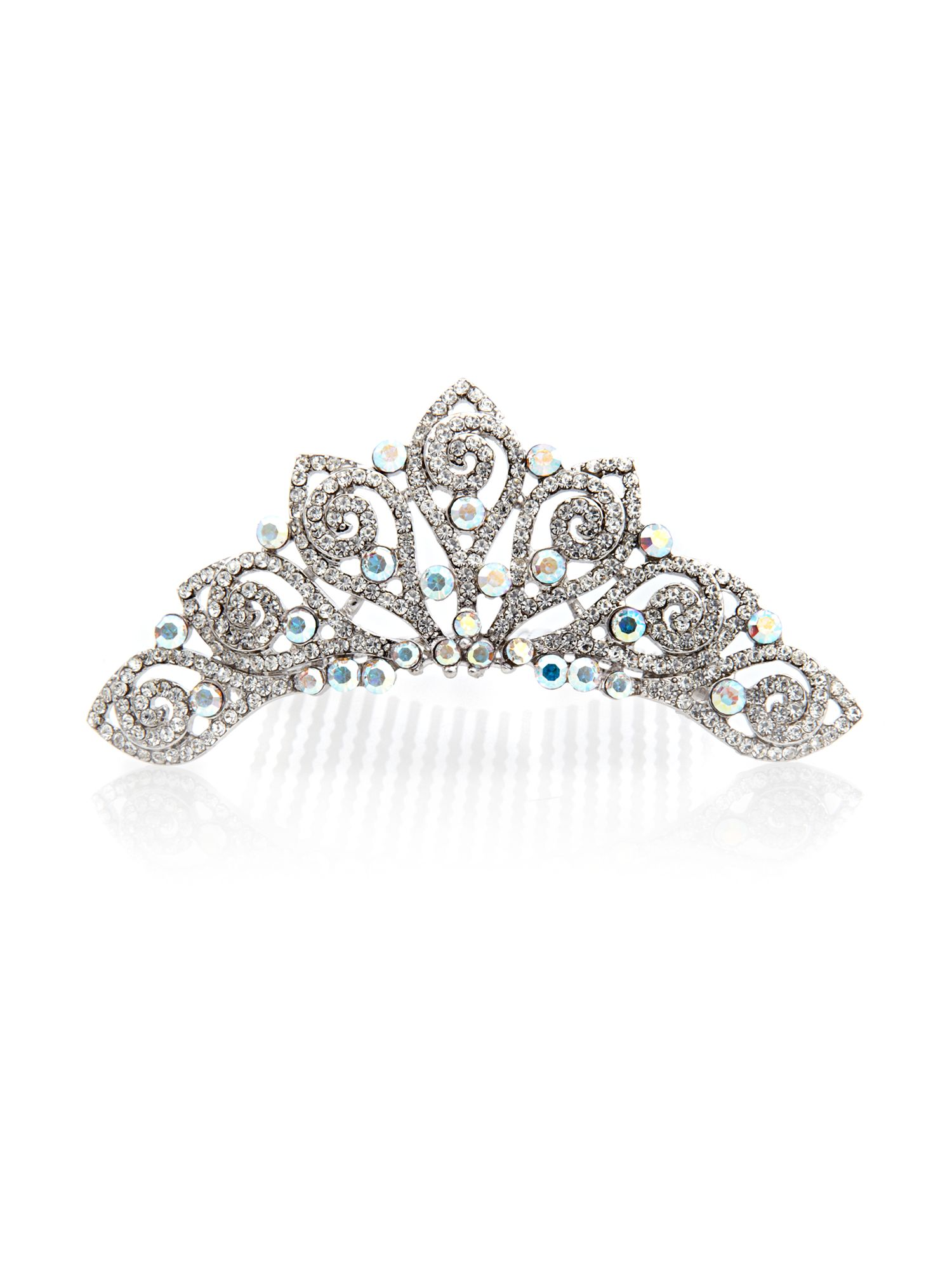 Crystal AB tiara with swarovski crystals