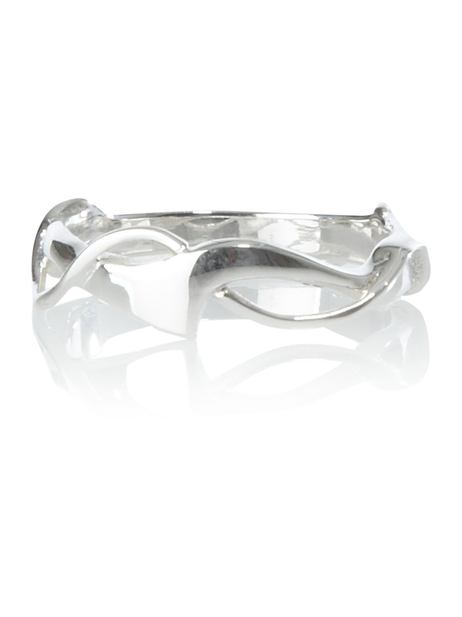 Dew Sterling Silver Art Nouveau Ring, Silver