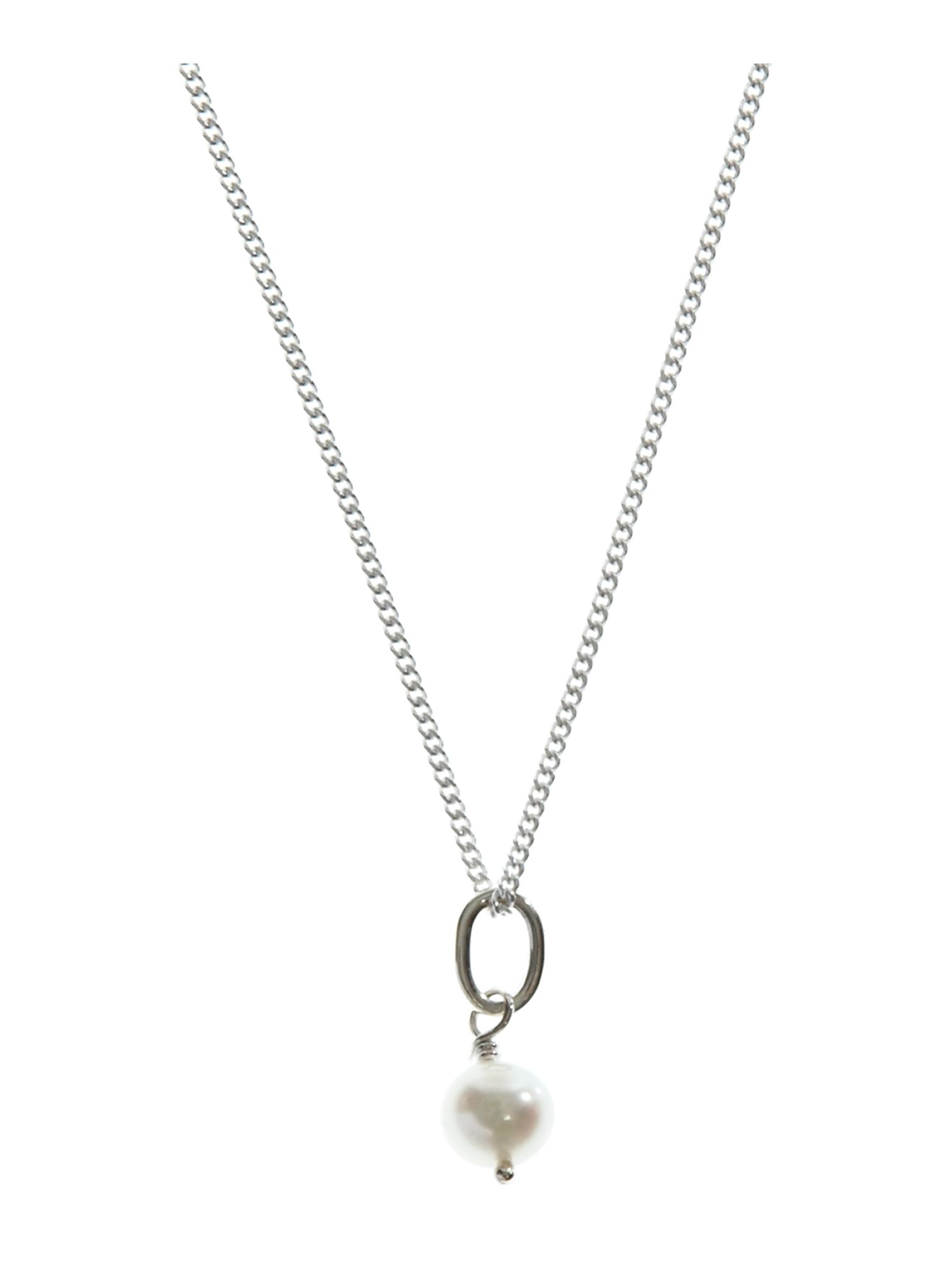Dew Sterling Silver Single Freshwater Pearl Necklace