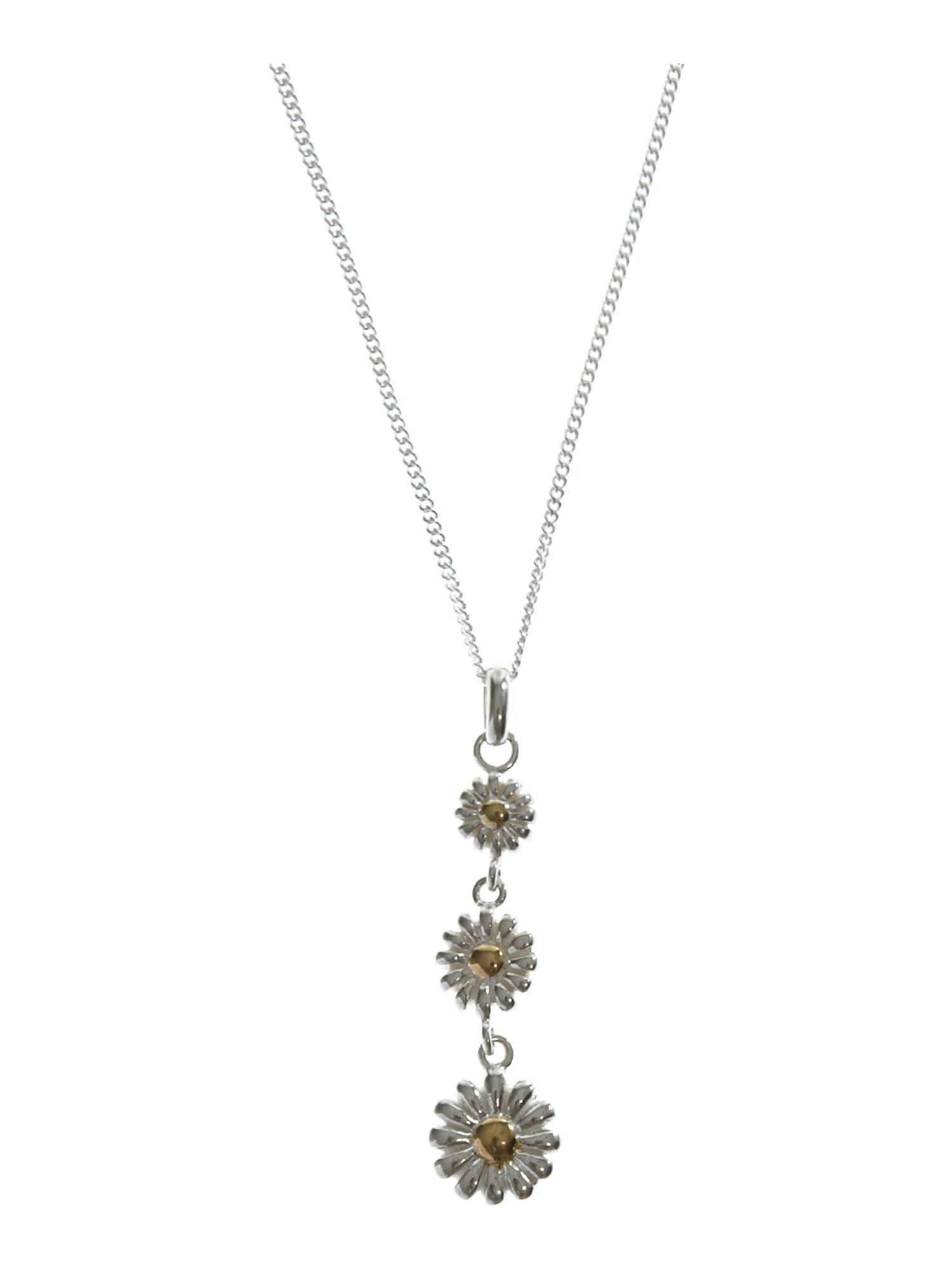 Dew Sterling Silver Necklace with Daisy Chain Gold Pl