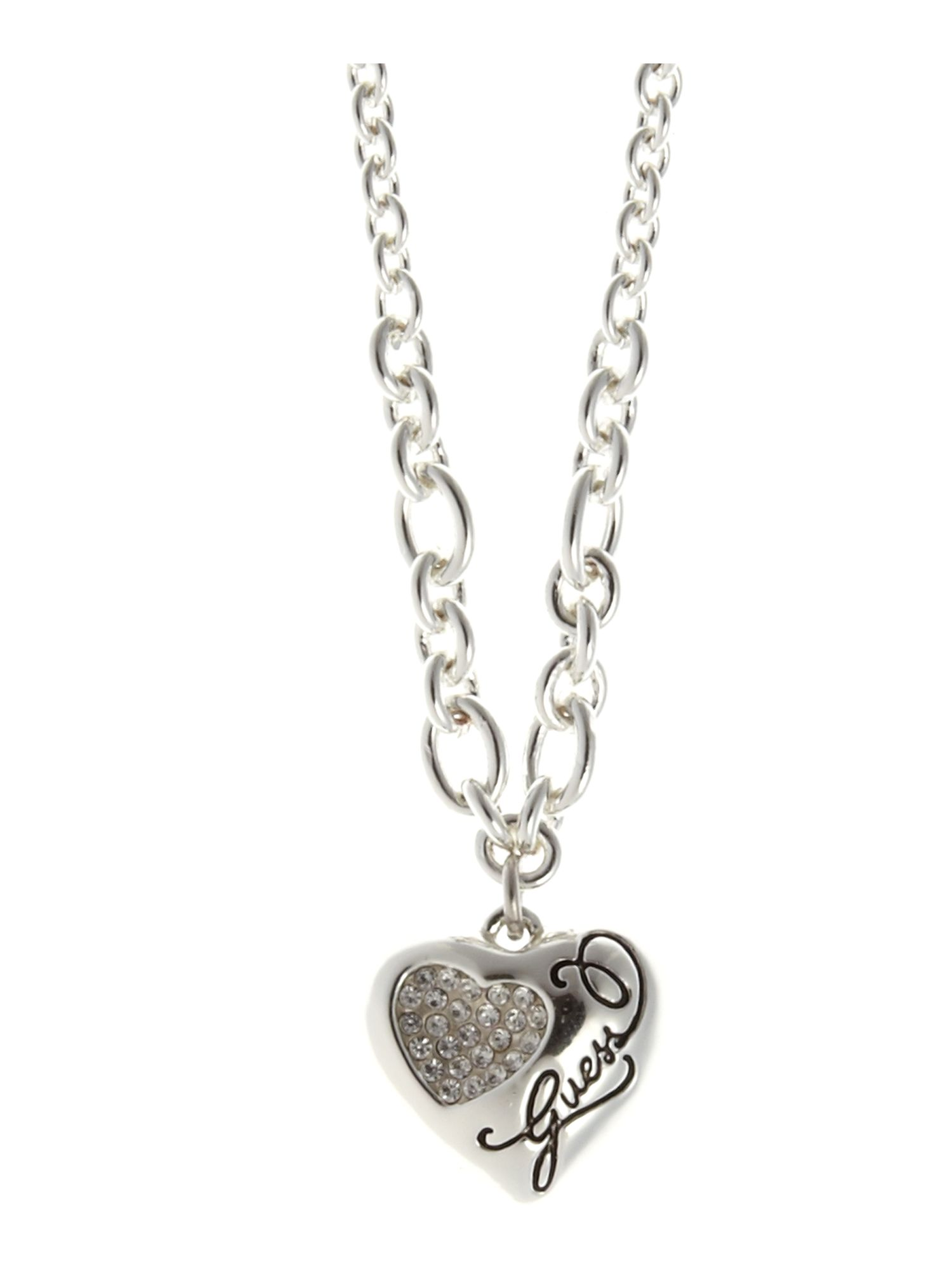 Guess Concave Heart Necklace