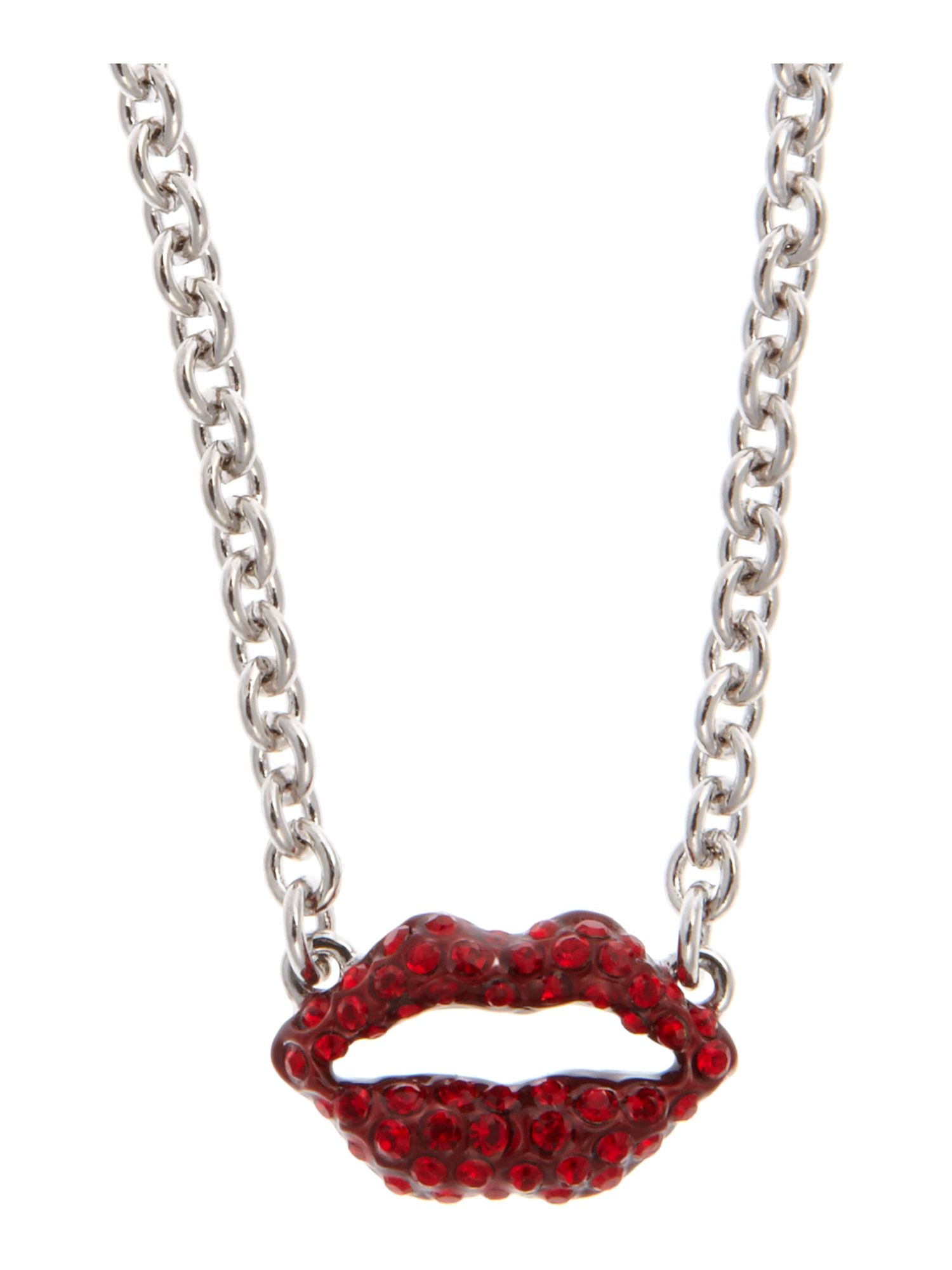 Guess Red Lips Necklace