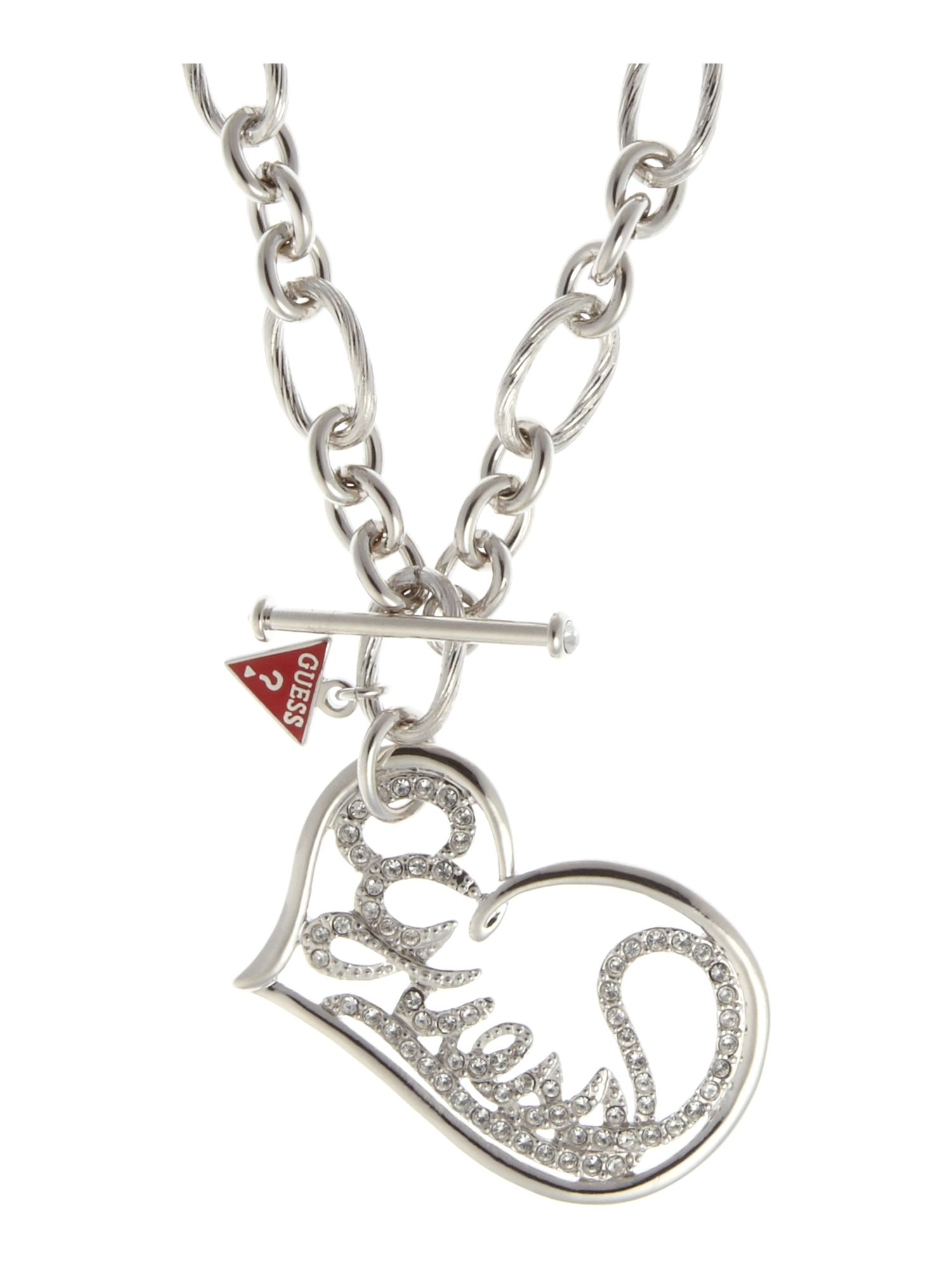 Guess Large Open Heart Necklace