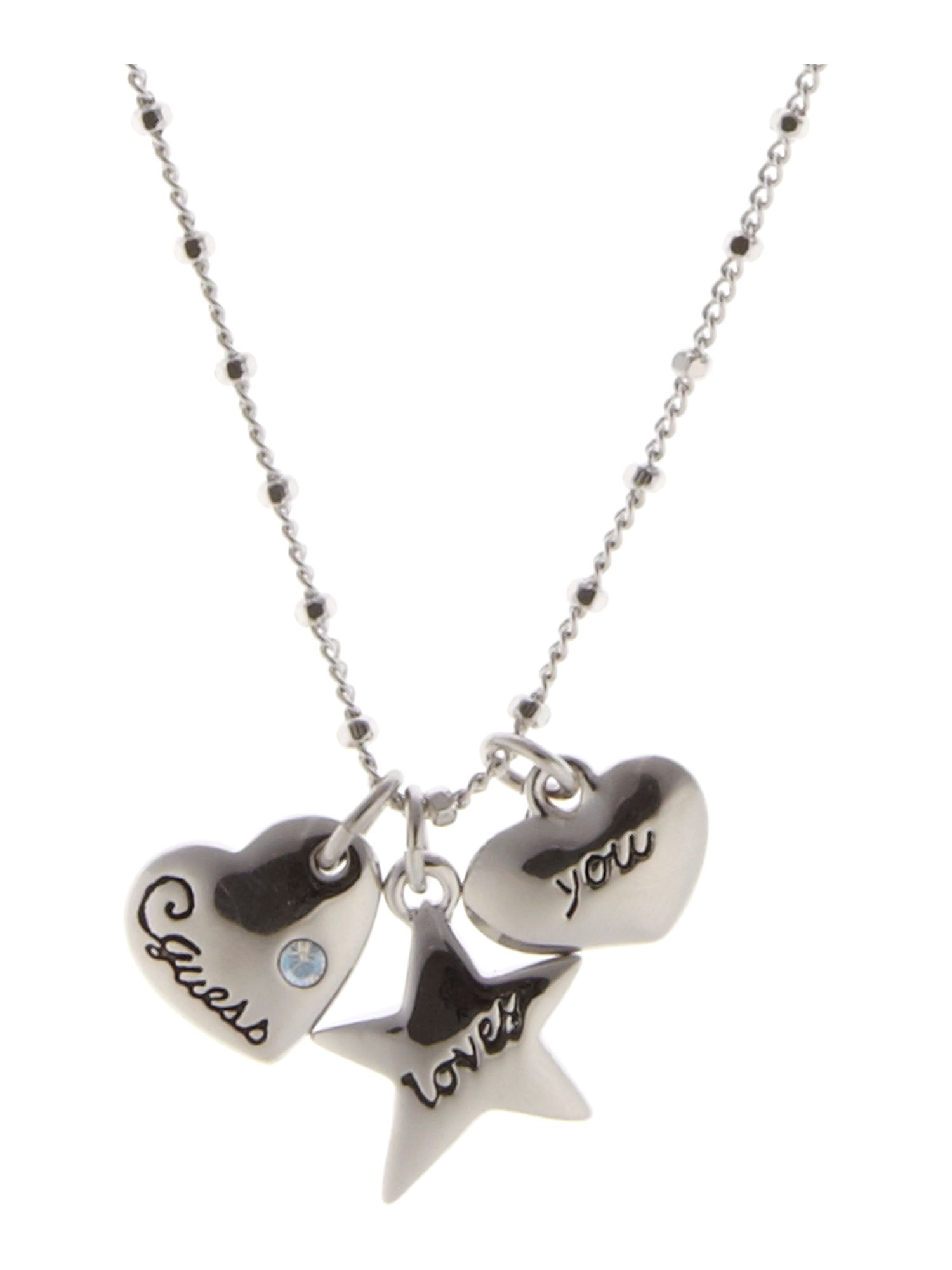 Guess Triple Heart Necklace