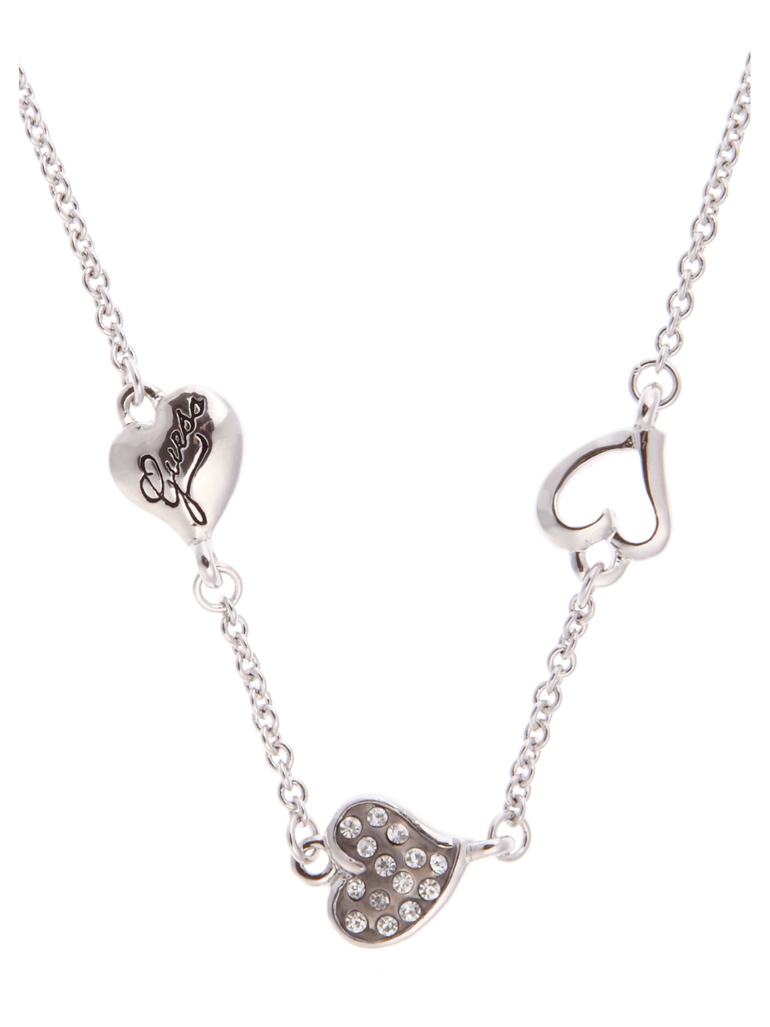 Guess 3 Heart Necklace