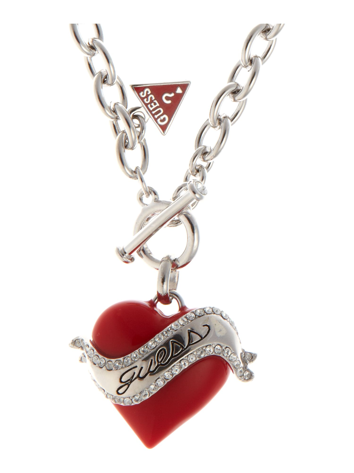 Guess Juicy Red Heart Necklace