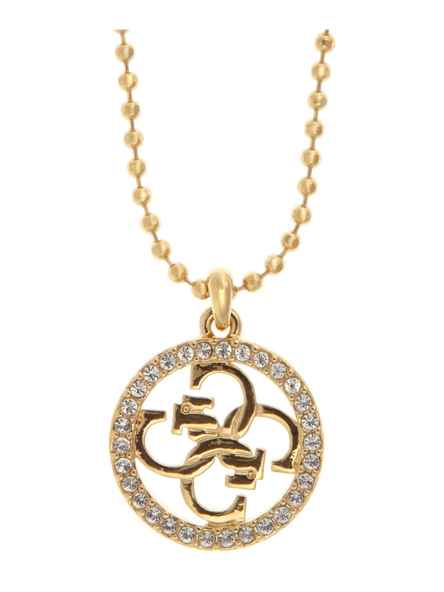 Guess Ribbon gold logo Necklace