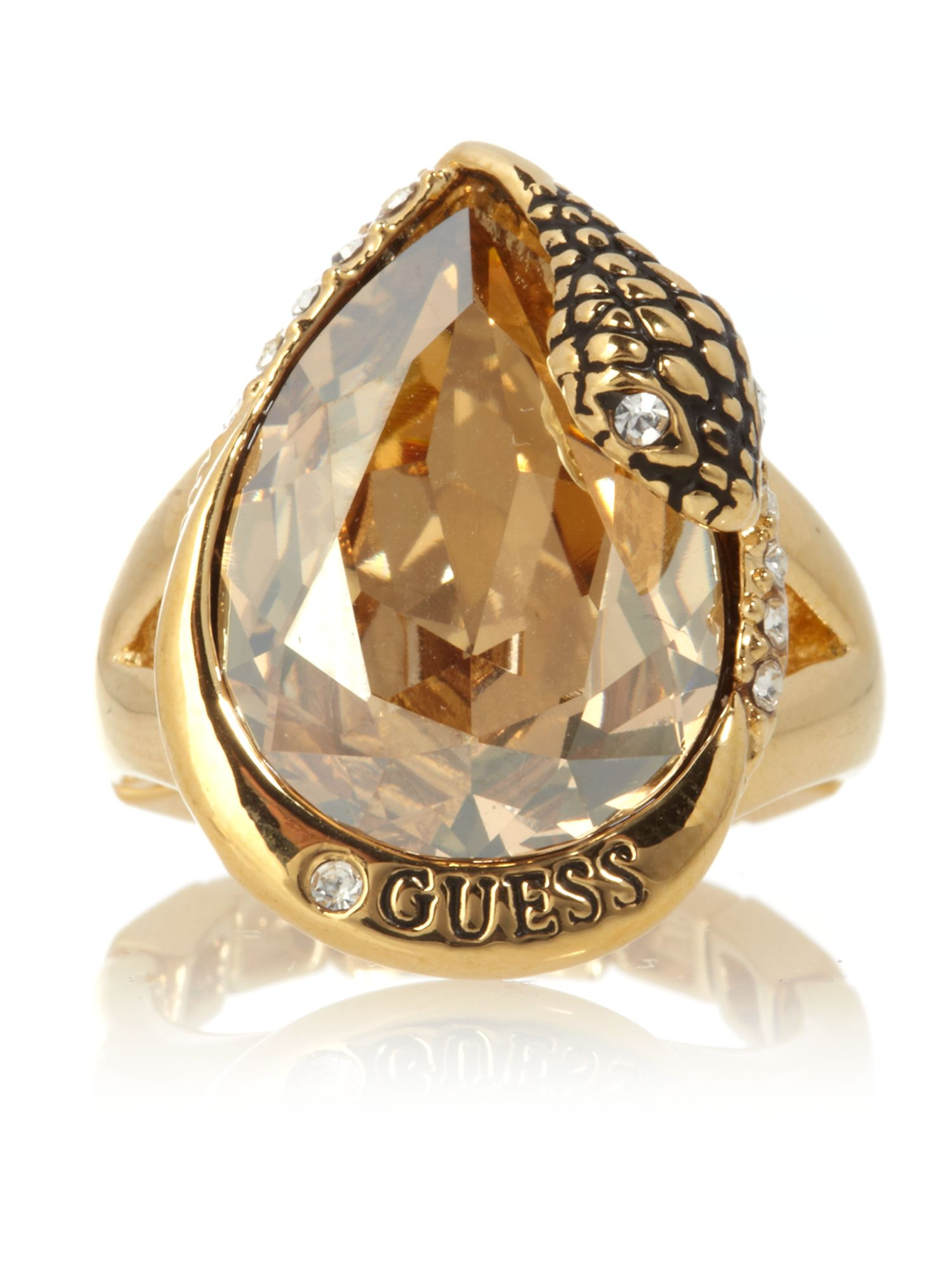 Guess Medusa cocktail Ring, Gold