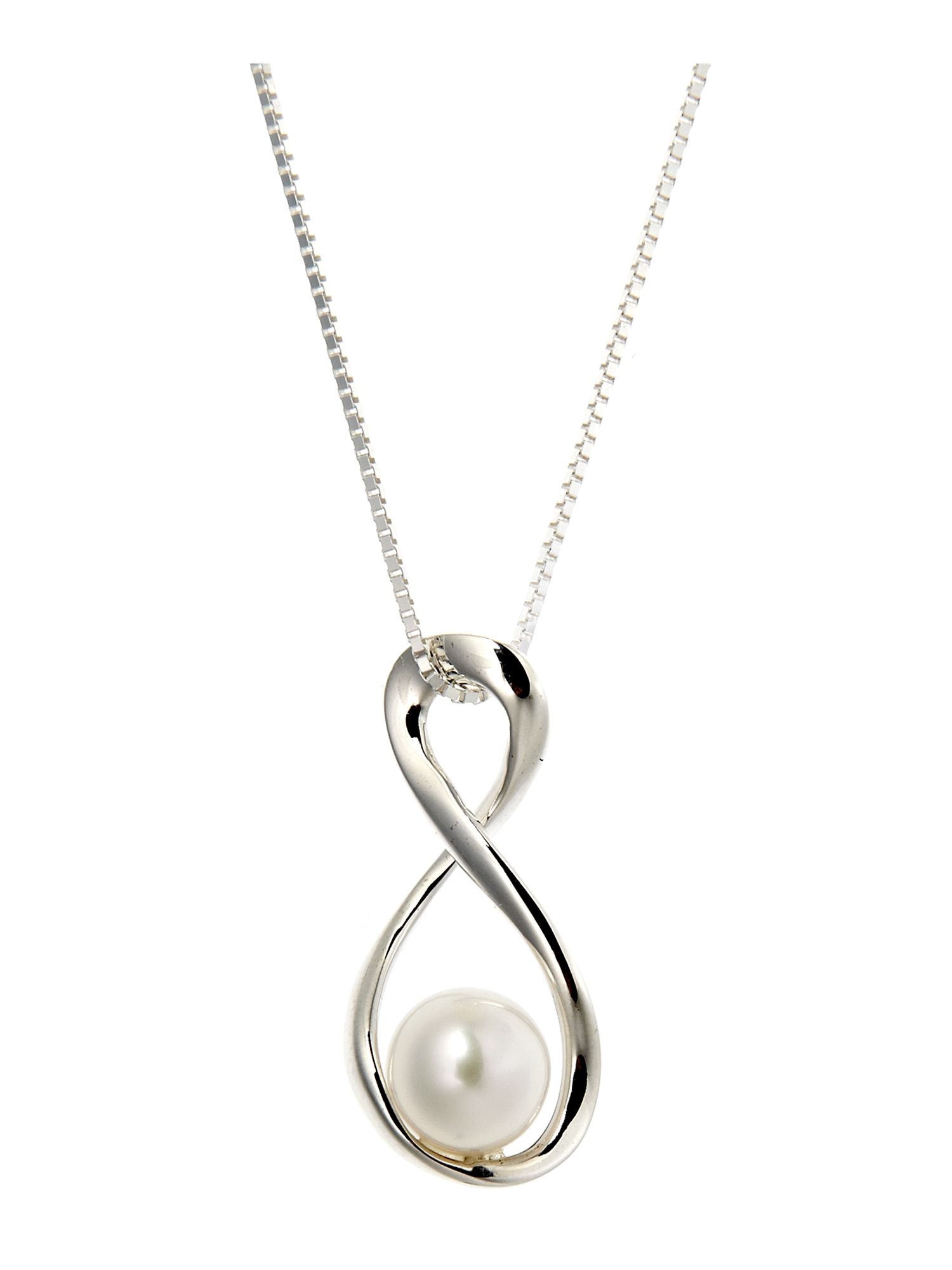 On the day White Pearl Twist Pendant