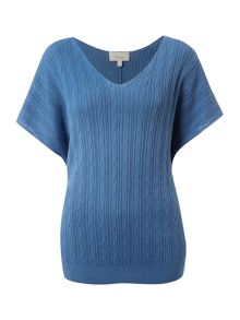 Linea Weekend Jumper with zig zag cable knit