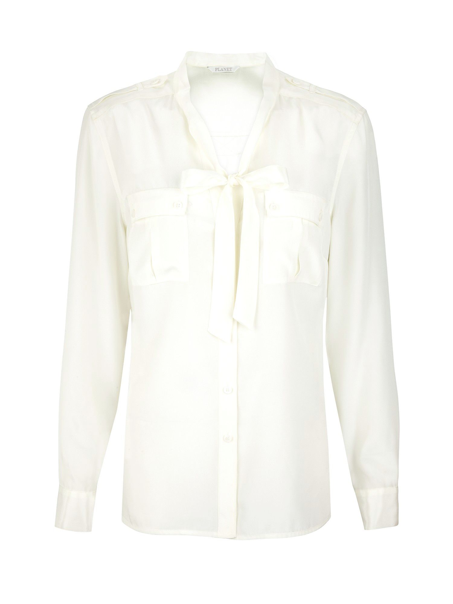 Planet Womens Planet Pussy bow blouse, Ivory product image
