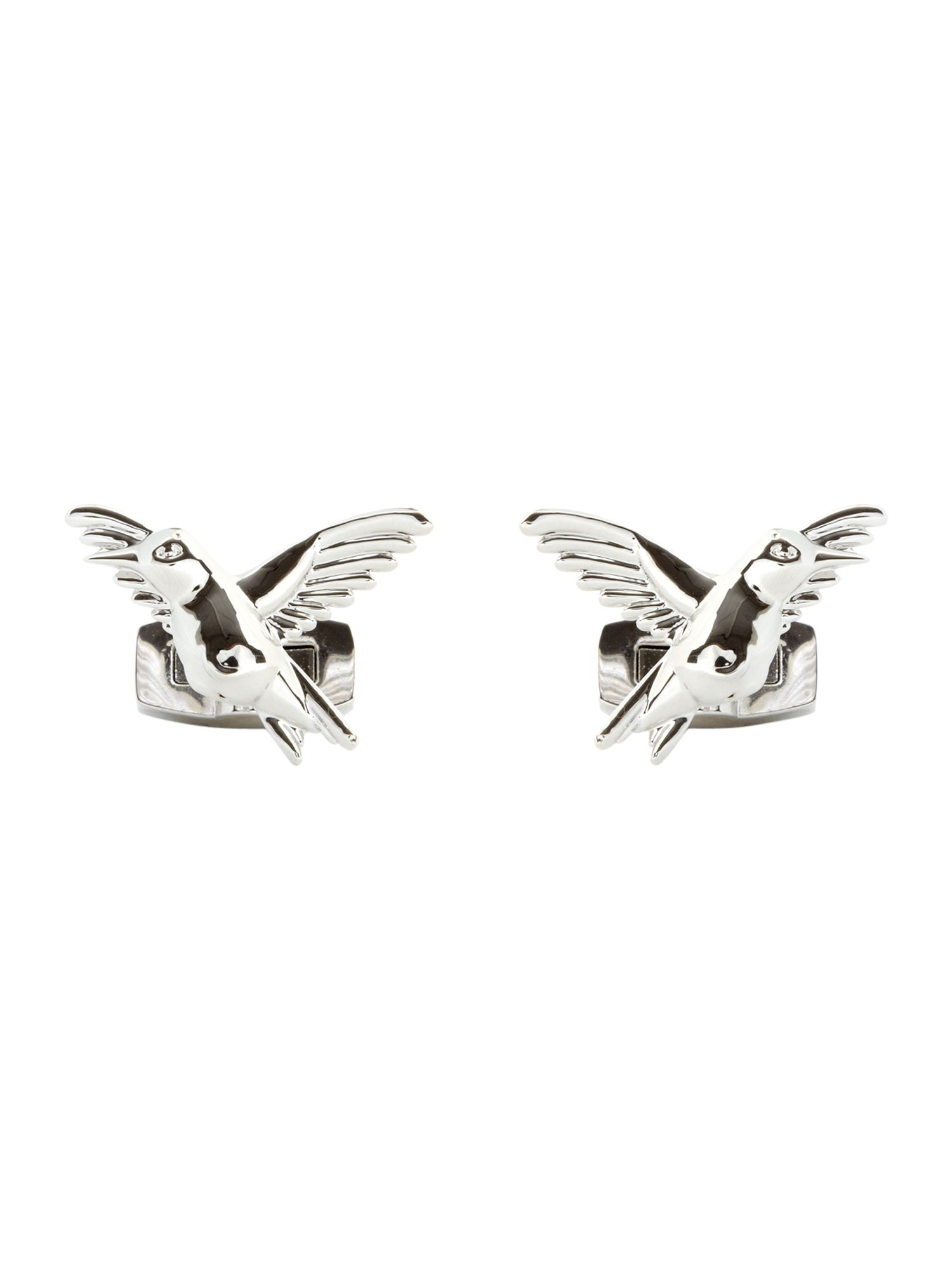 Rhod bird cufflinks, Silver 160063718