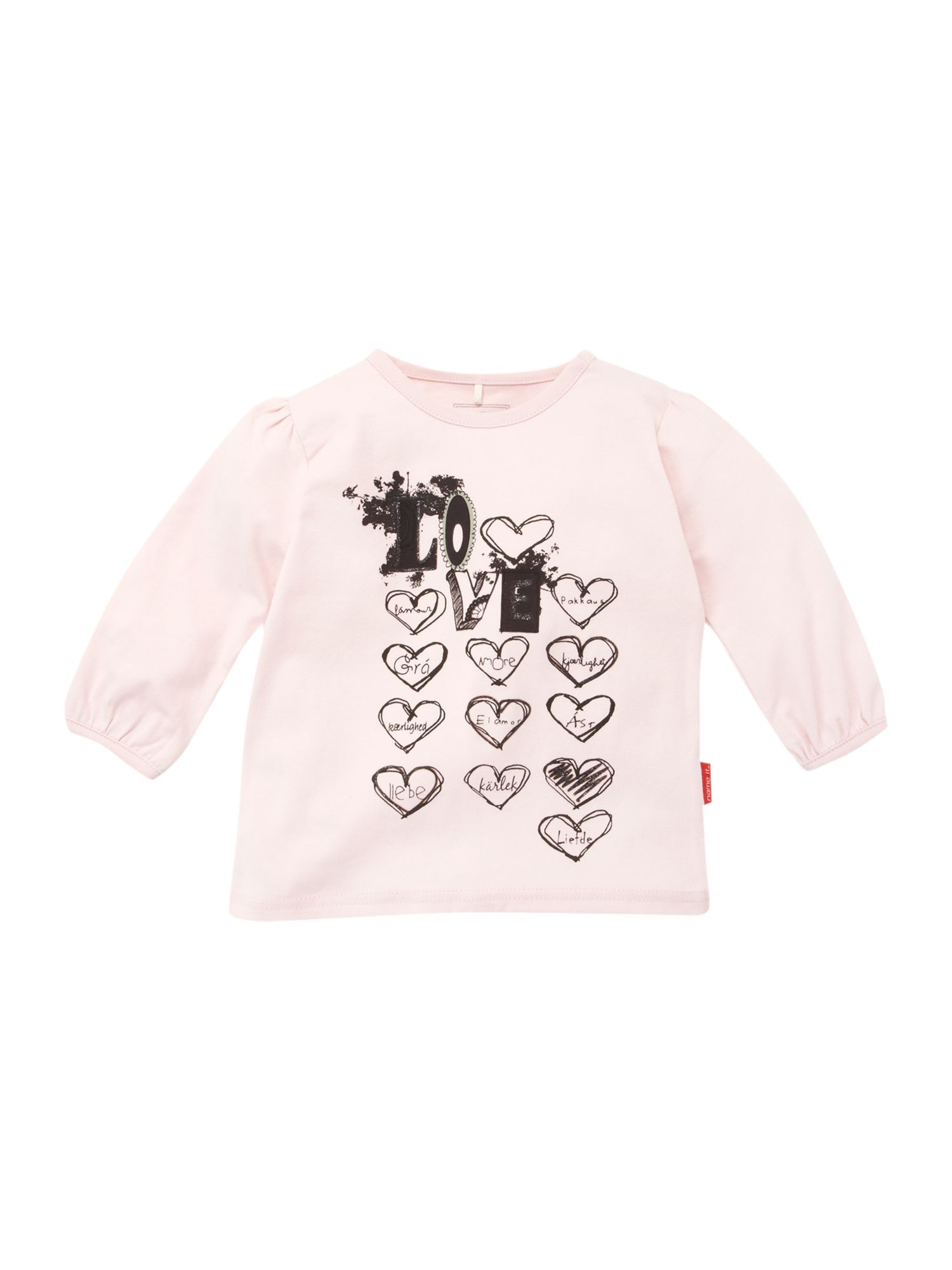 Name it long sleeved love printed t shirt light review for Name printed t shirts online