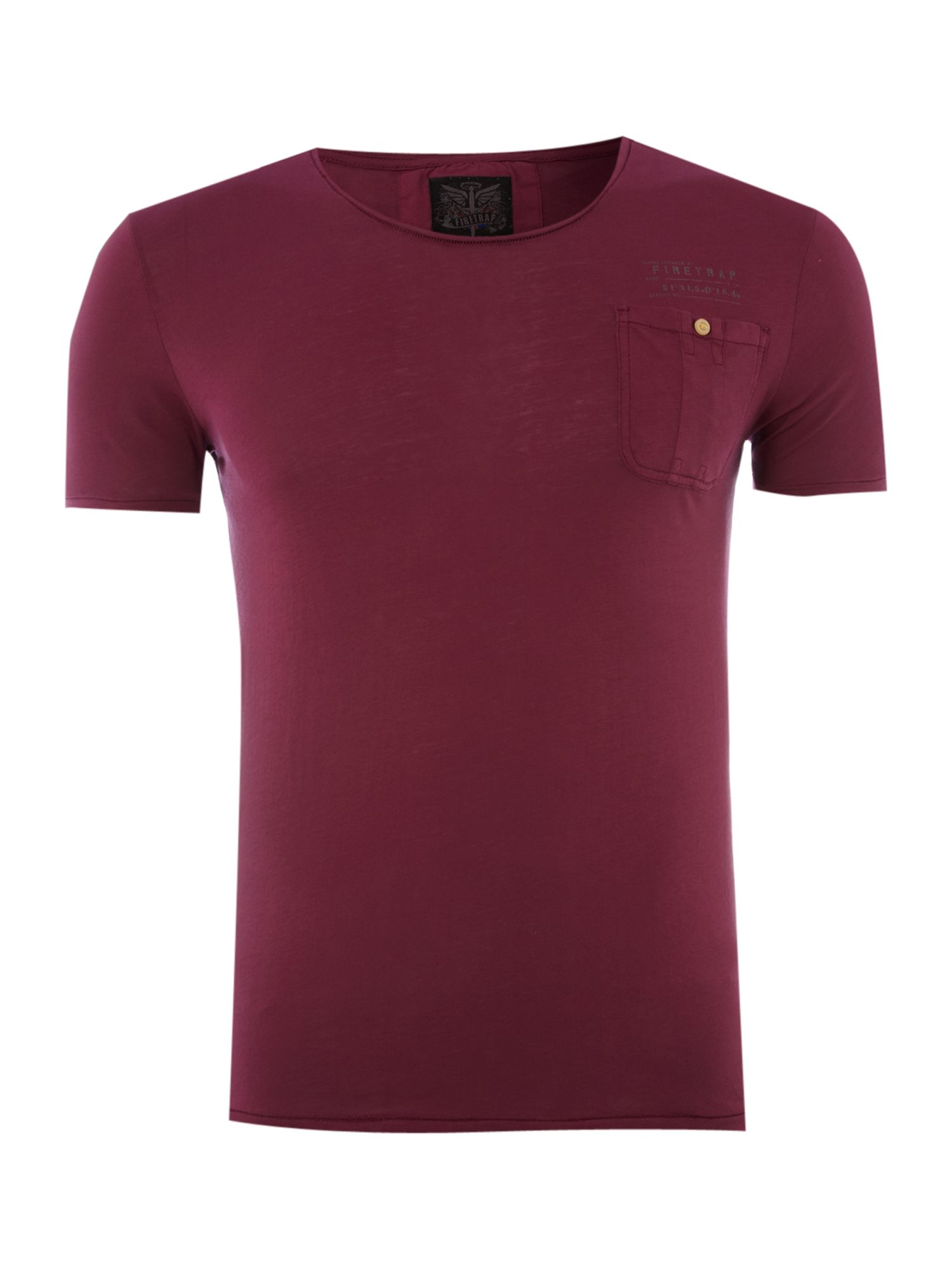 Firetrap Mens Firetrap 1-pocket T-shirt, Maroon product image