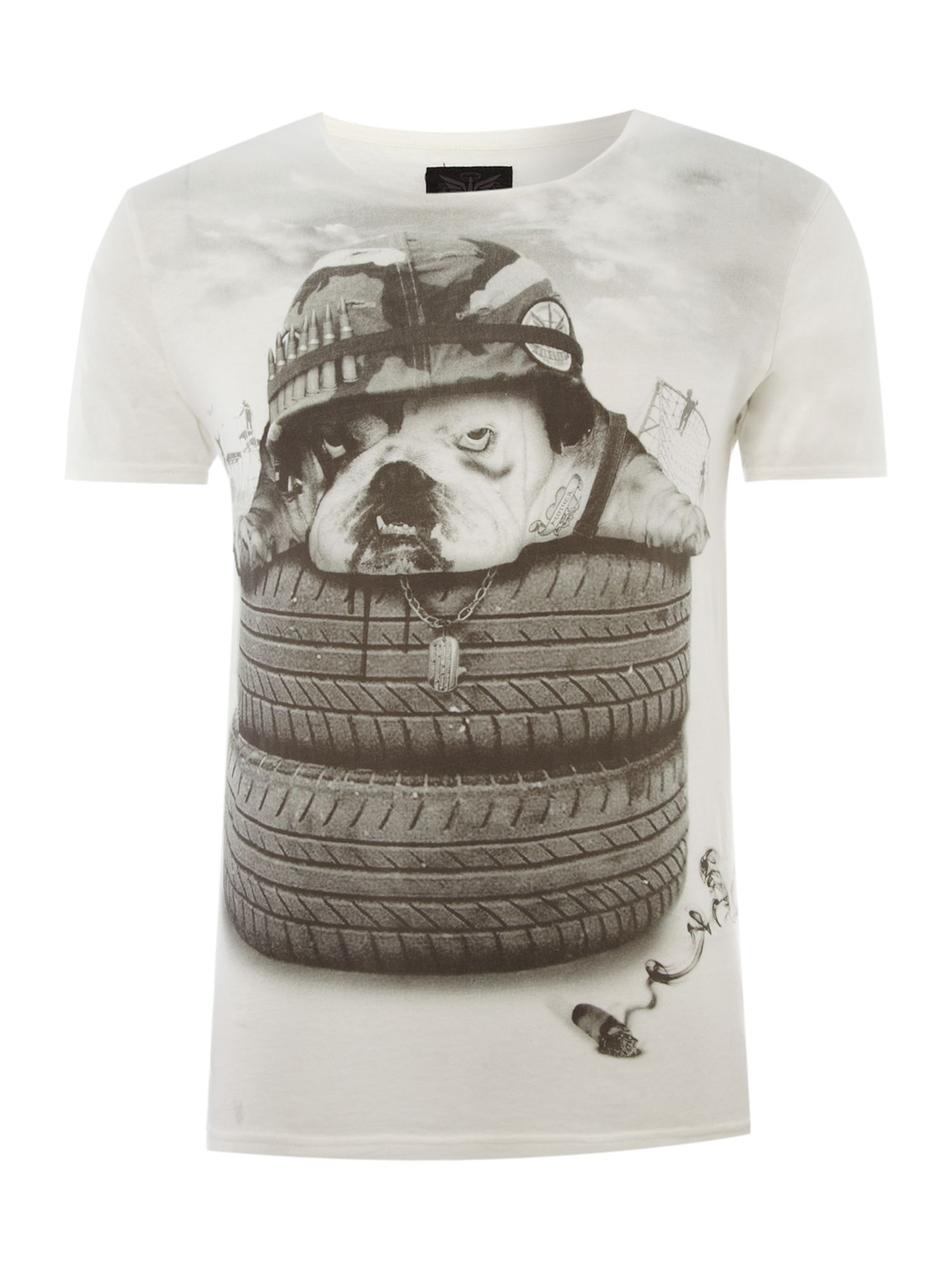 Firetrap Mens Firetrap Printed graphic T-shirt, product image
