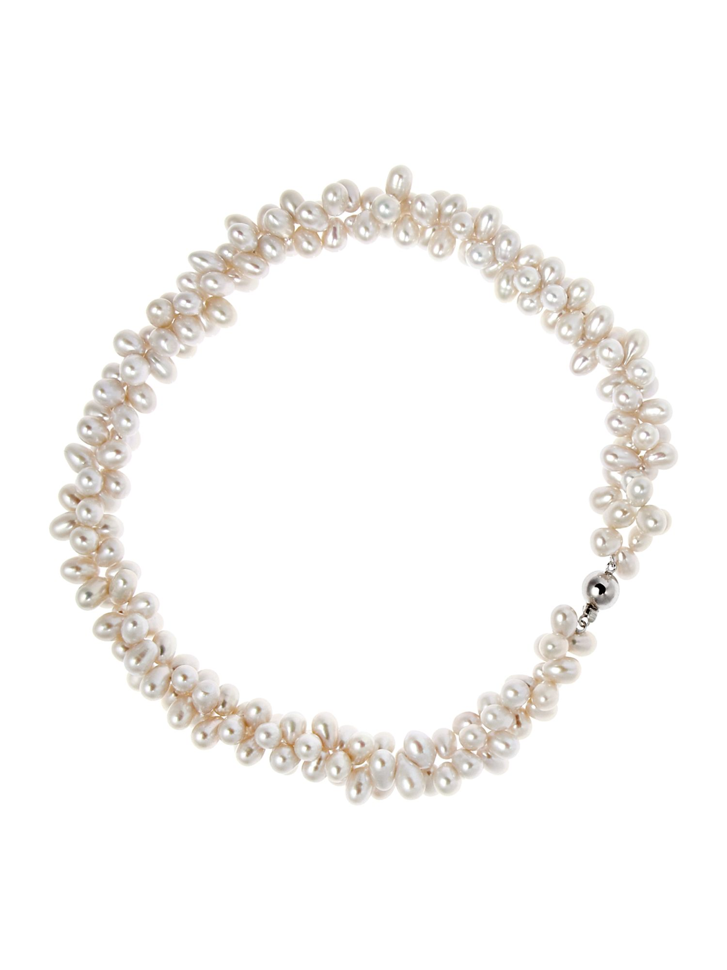 Callisto Double Strand Twisted Pearl Necklace