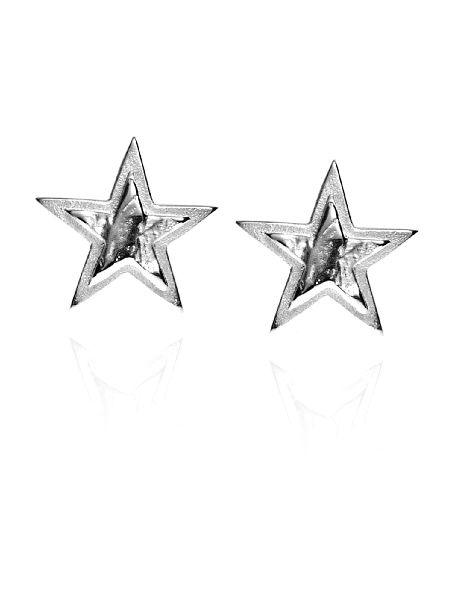 Sister Sadie Silver Star Earrings