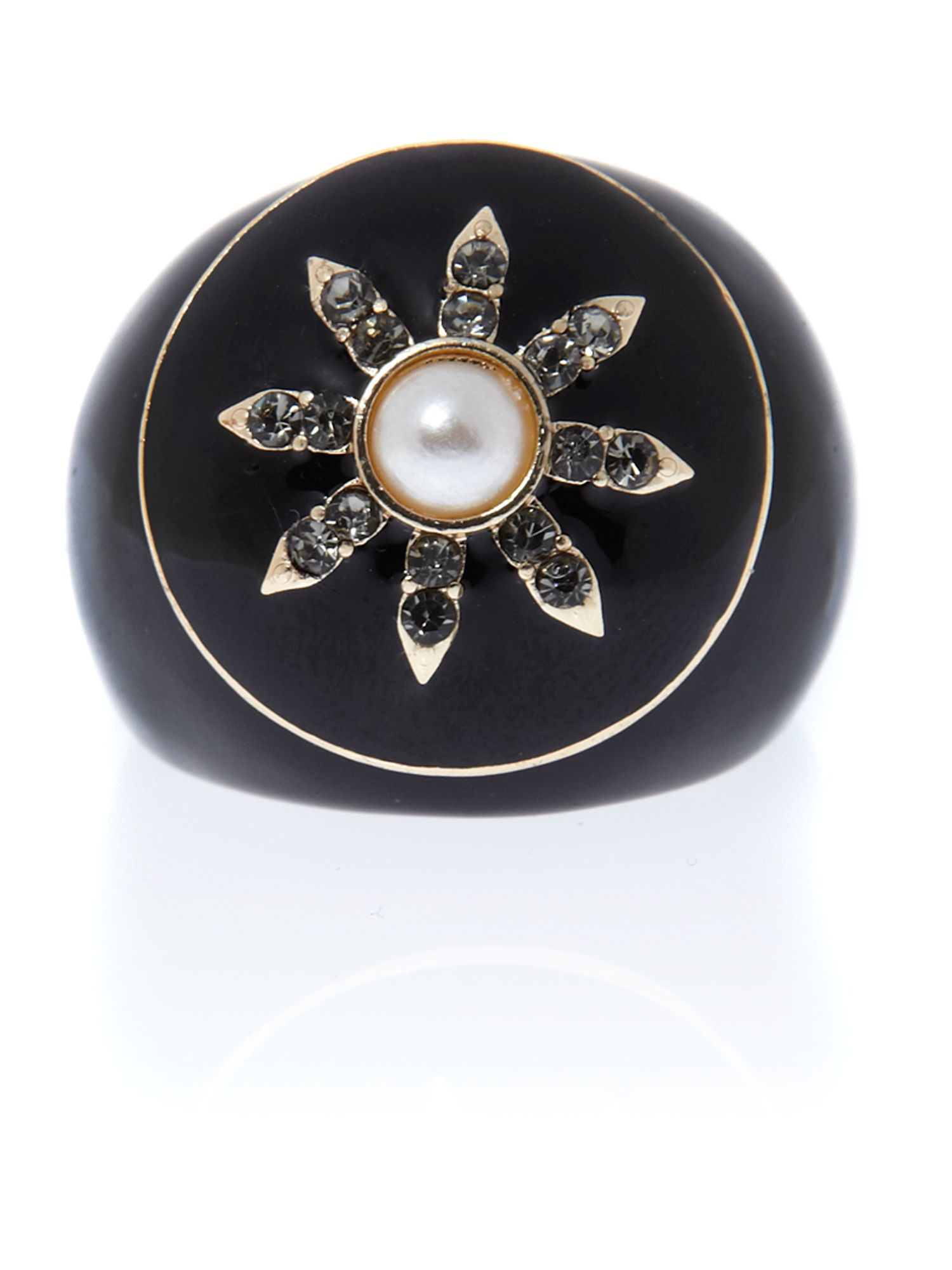 Ziba Vintage Ring With Pearl Star