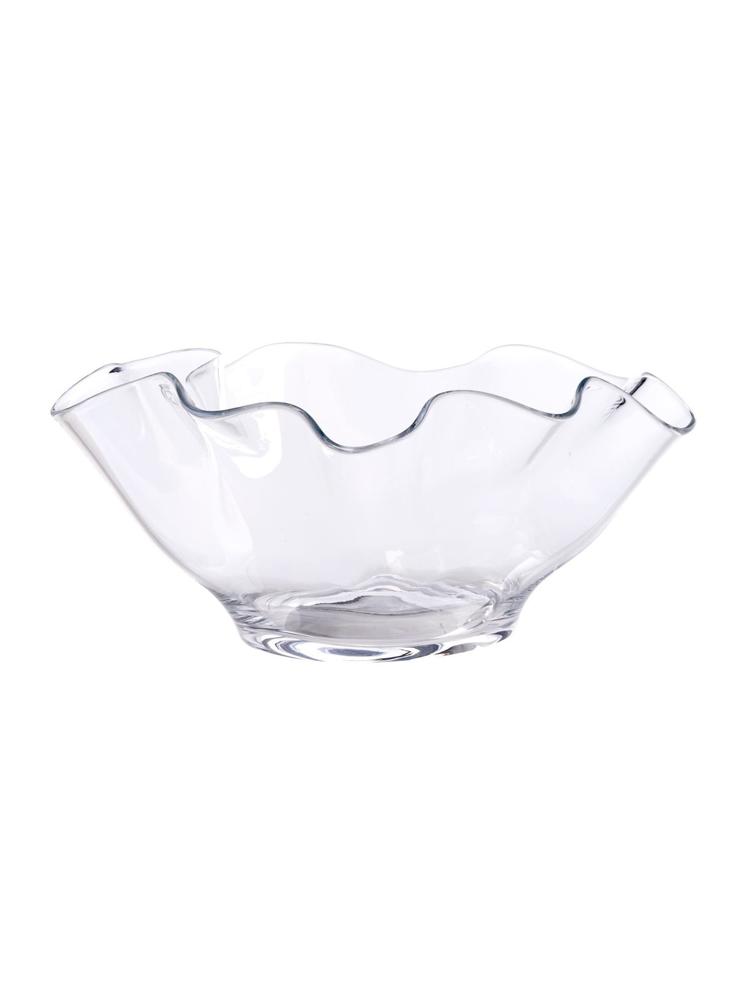 Handkerchief clear glass decorative bowl
