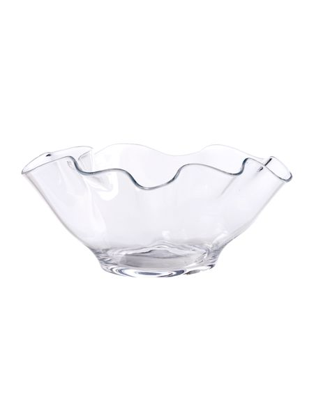 Linea Handkerchief clear glass decorative bowl