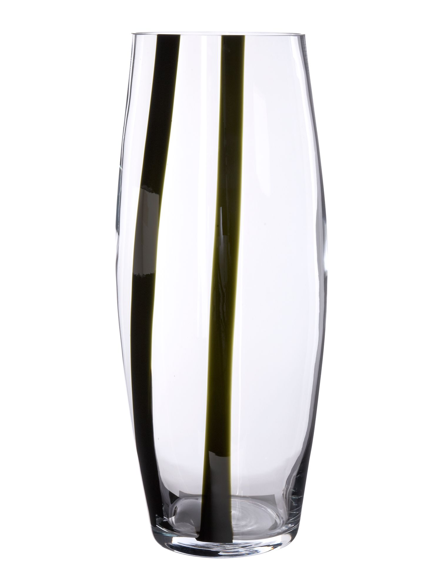 Tall black stripe vase