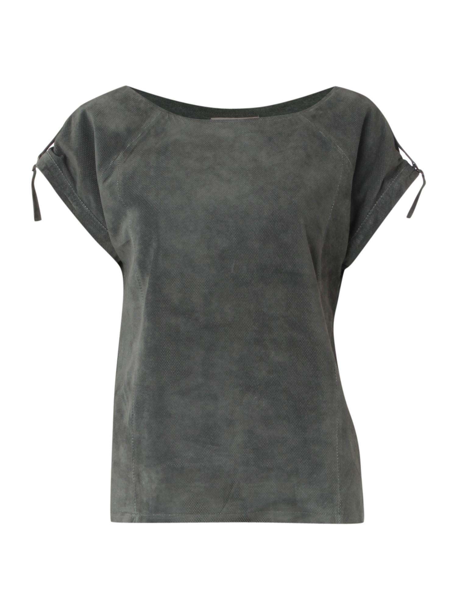 Mary Portas Womens Mary Portas Suede shell blouse, Grey product image