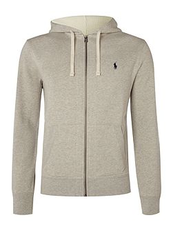 Zip-through cotton-blend hoody