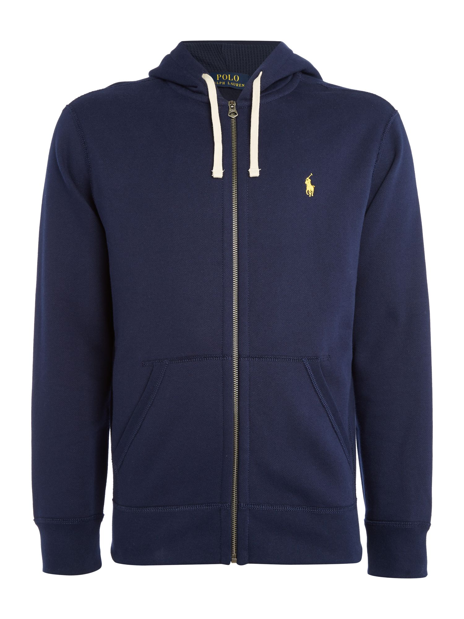 Polo Ralph Lauren Zip-through cotton-blend hoody ...