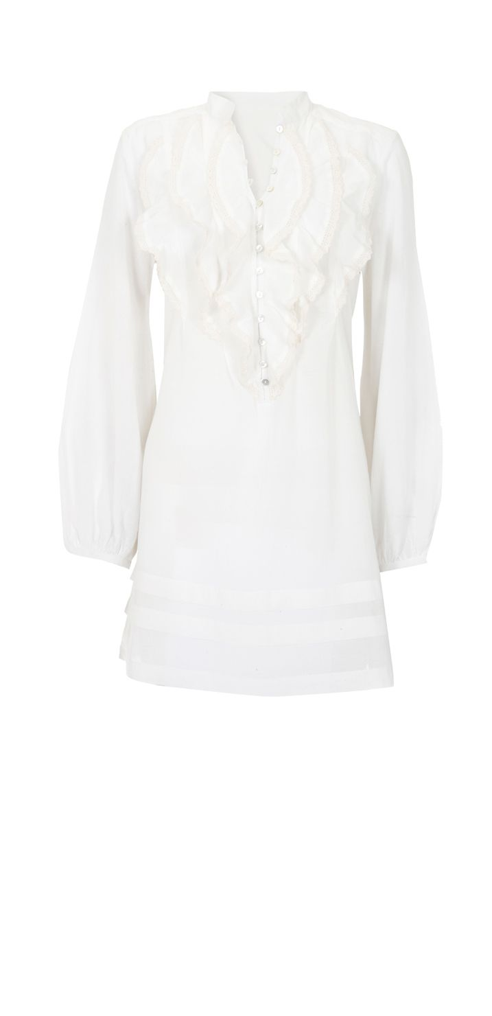 Mint Velvet Womens Mint Velvet Cream ruffle blouse, product image