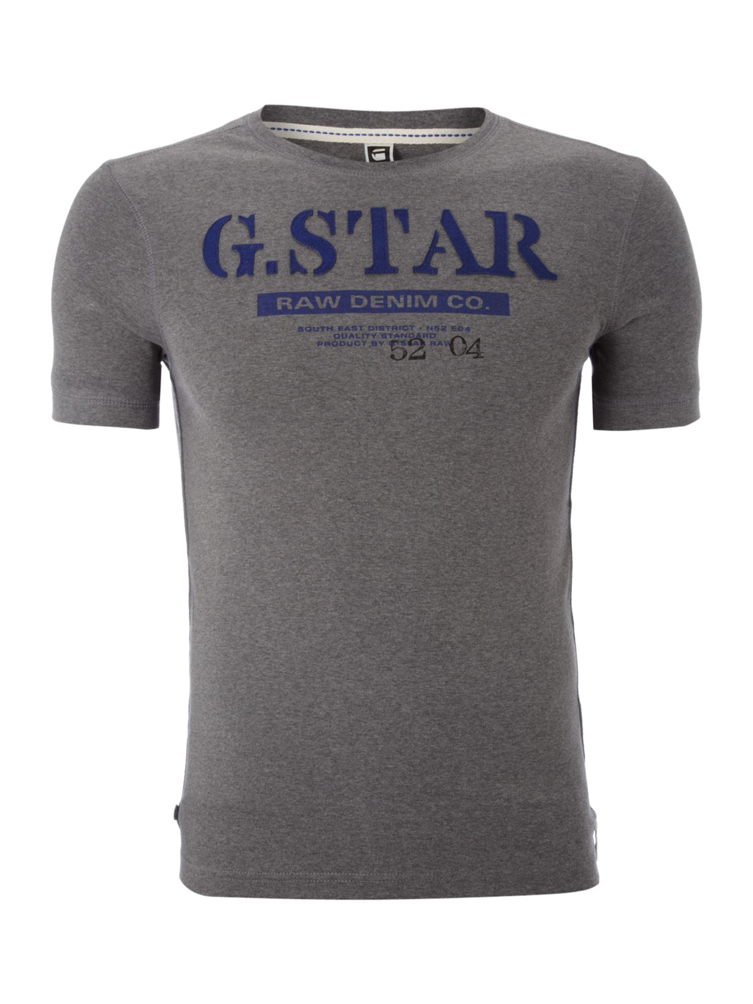 G-Star Mens G-Star Logo printed T-shirt, Grey product image
