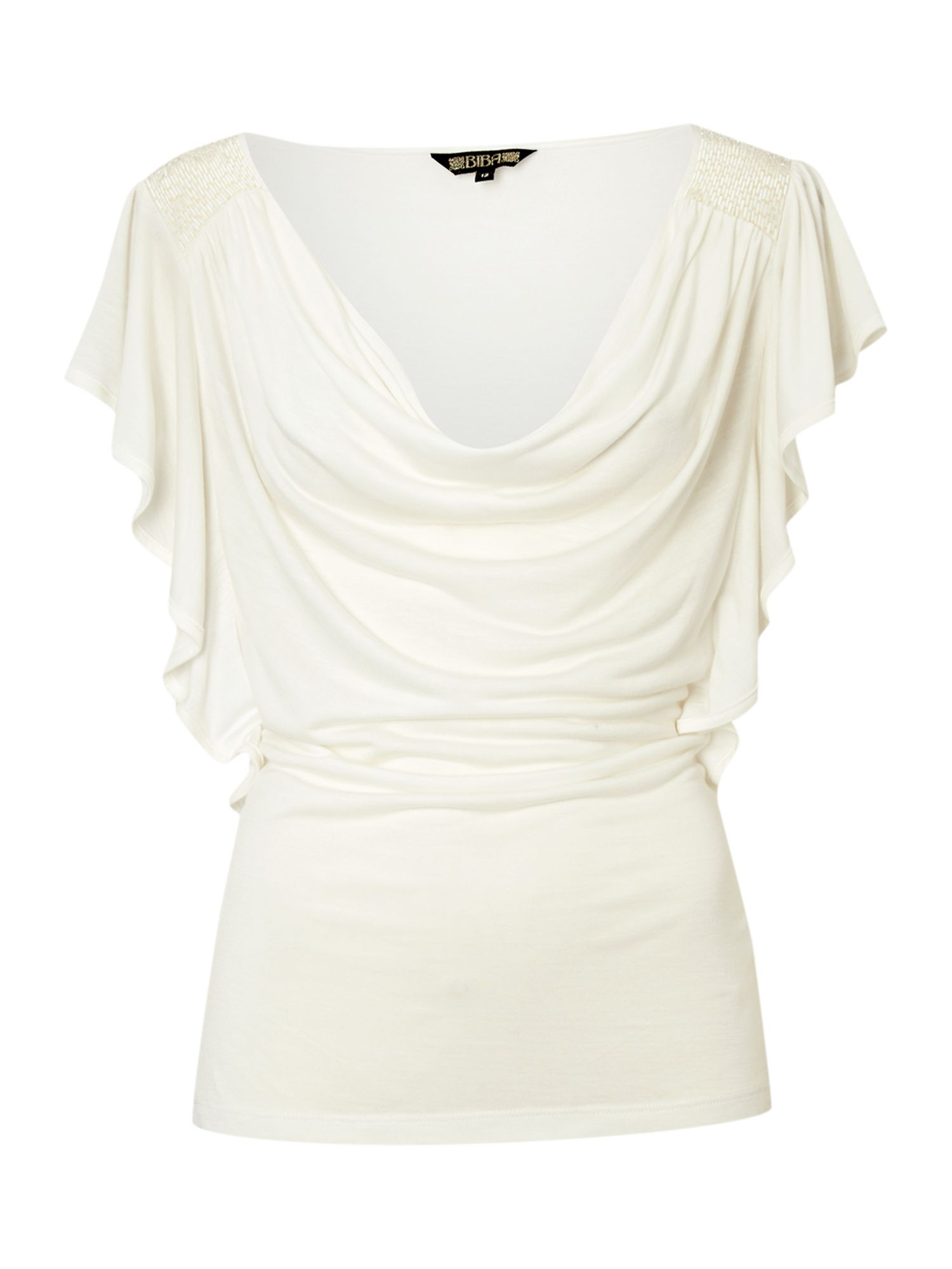 Biba Womens Biba Cowl front beaded t-shirt, product image