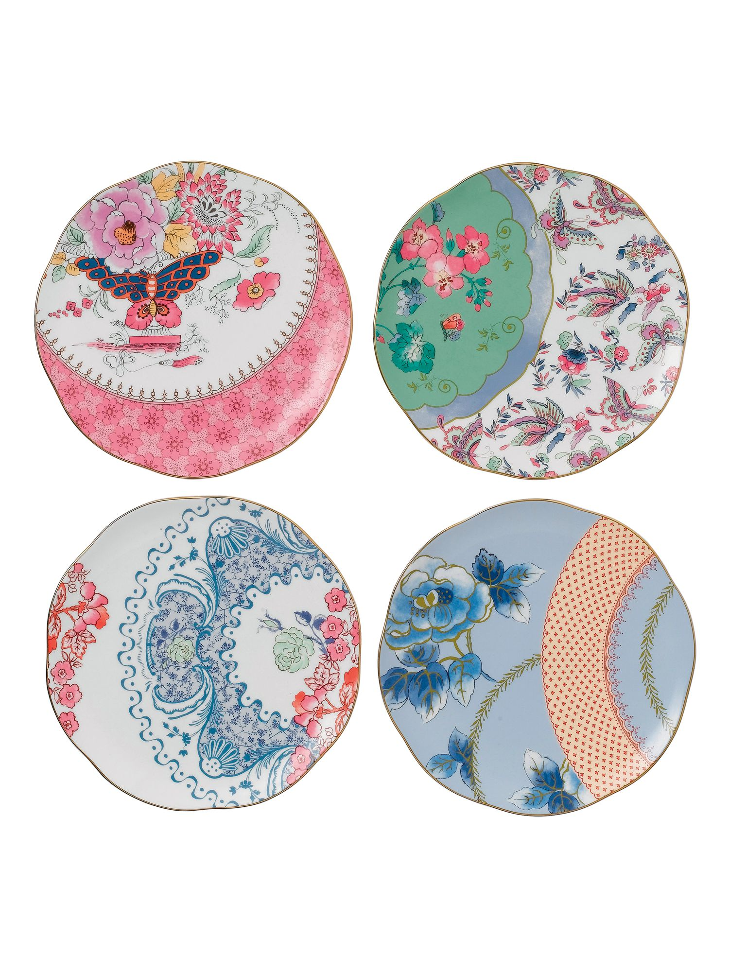 Butterfly bloom 20cm plate set of 4
